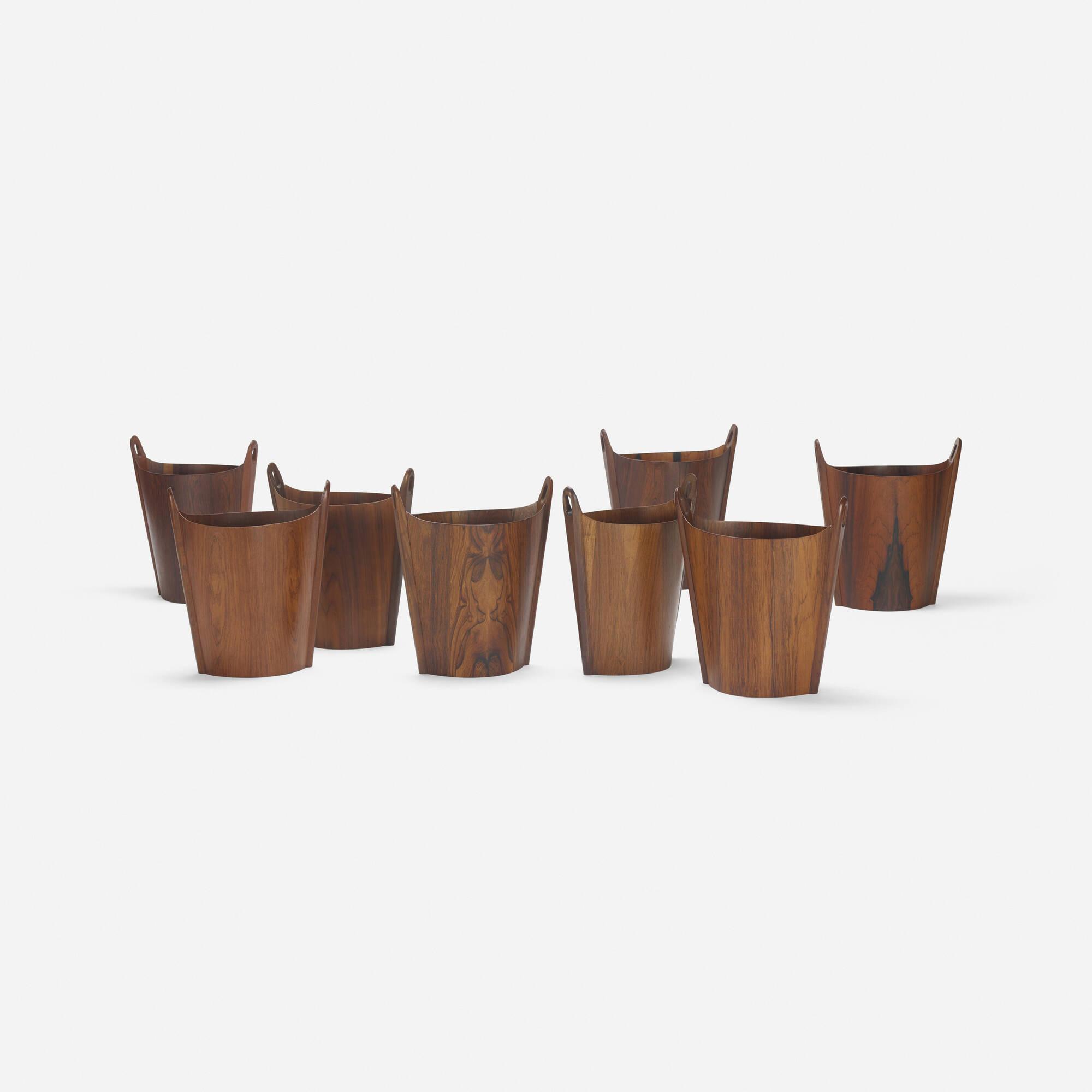 345: P.S. Heggen / wastepaper baskets, set of eight (2 of 2)