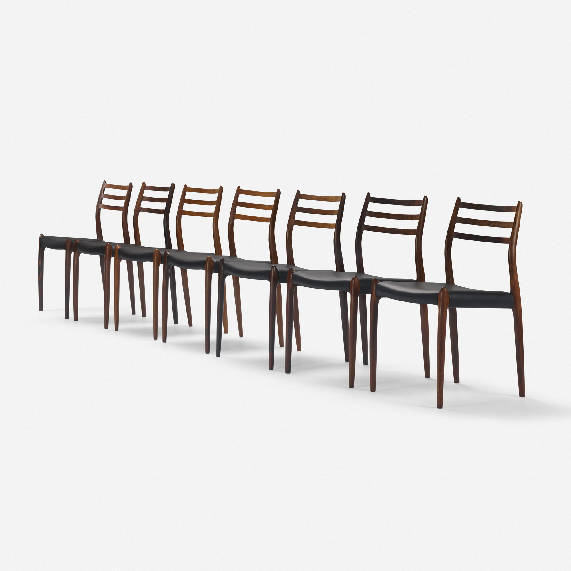 347: Niels O. Møller / dining chairs, set of seven (1 of 2)