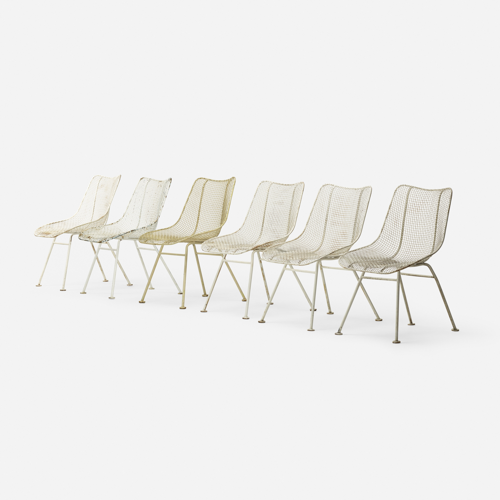 350: Russell Woodard / Sculptura dining chairs, set of six (1 of 3)
