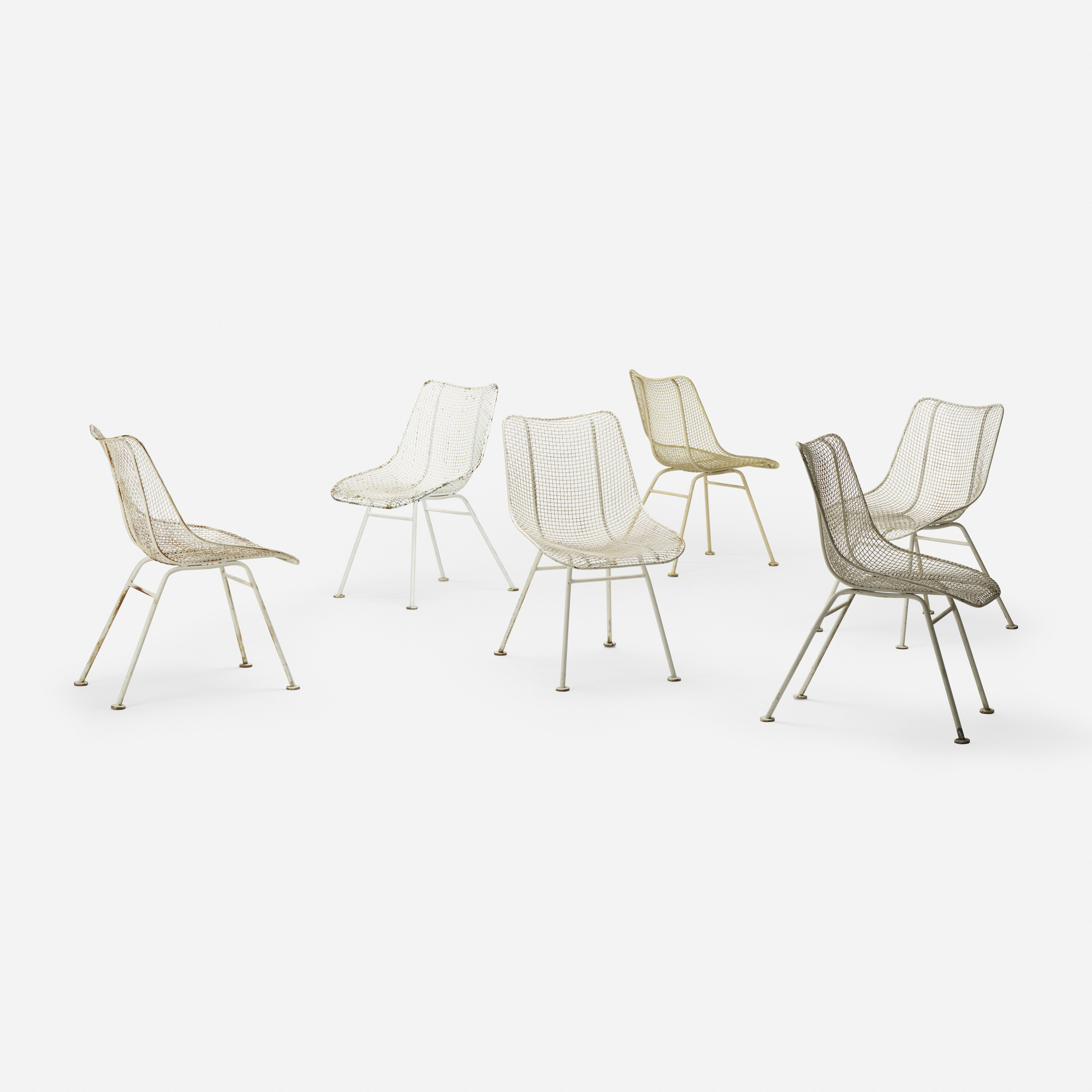 350: Russell Woodard / Sculptura dining chairs, set of six (2 of 3)