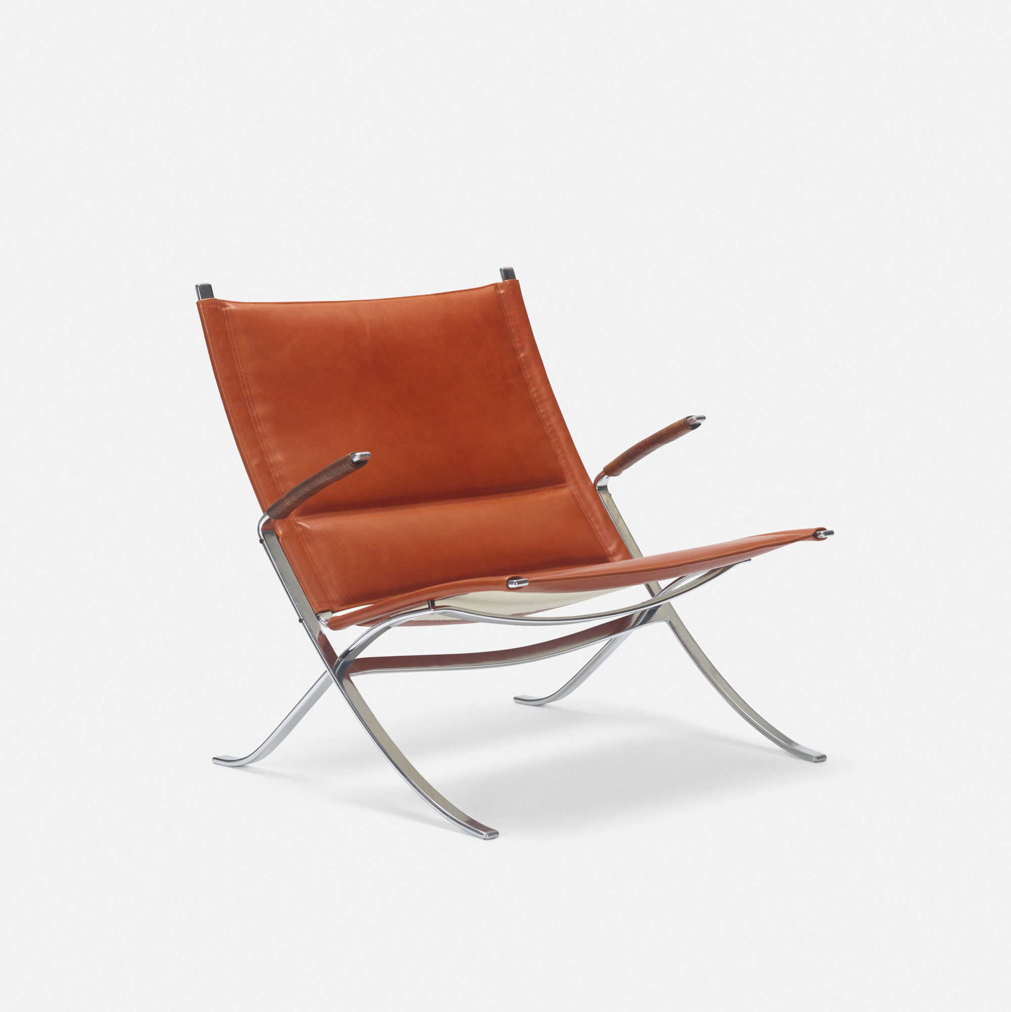 351: Preben Fabricius and Jorgen Kastholm / lounge chair, model FK 82 (1 of 3)