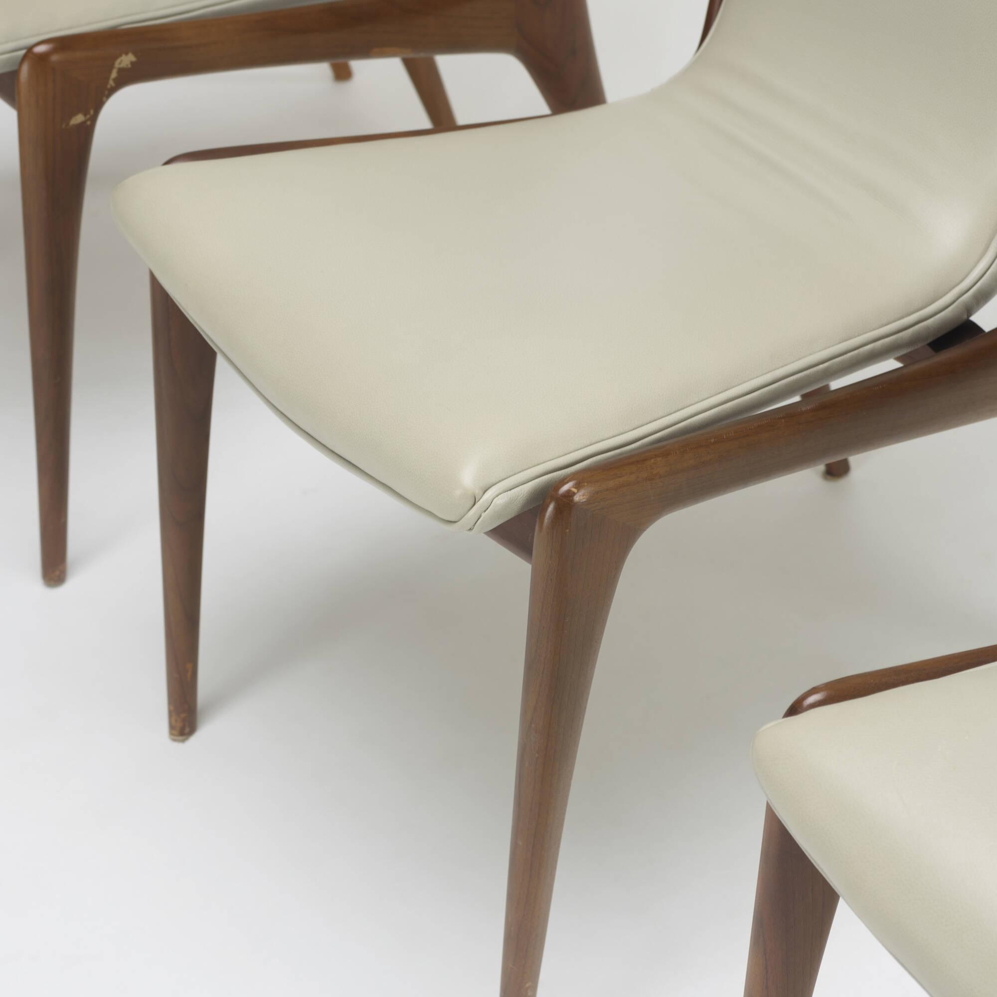... 353: Vladimir Kagan / Sling Dining Chairs Model VK 101, Set Of Four (