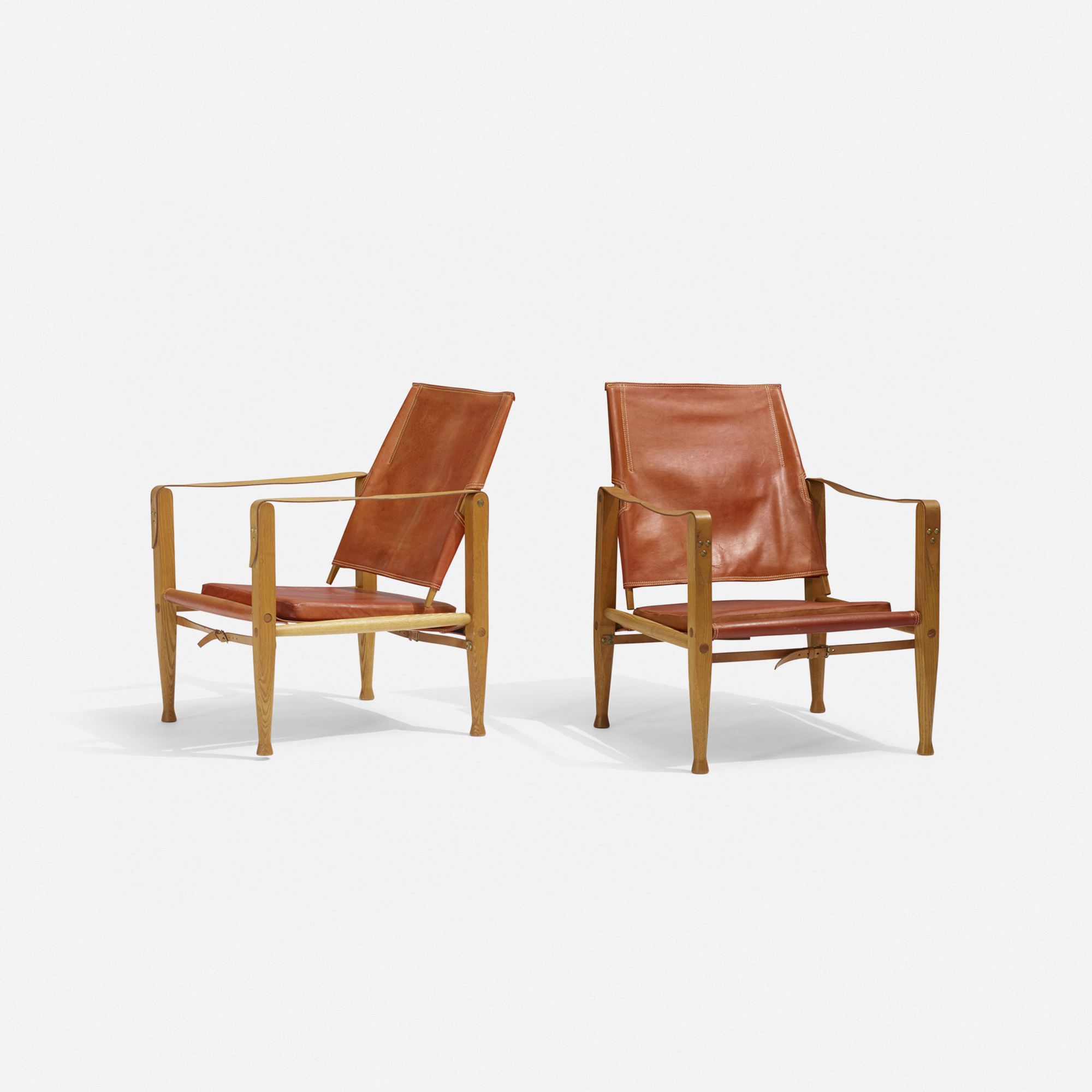 353 Kaare Klint Safari chairs pair Mass Modern Day 1 10