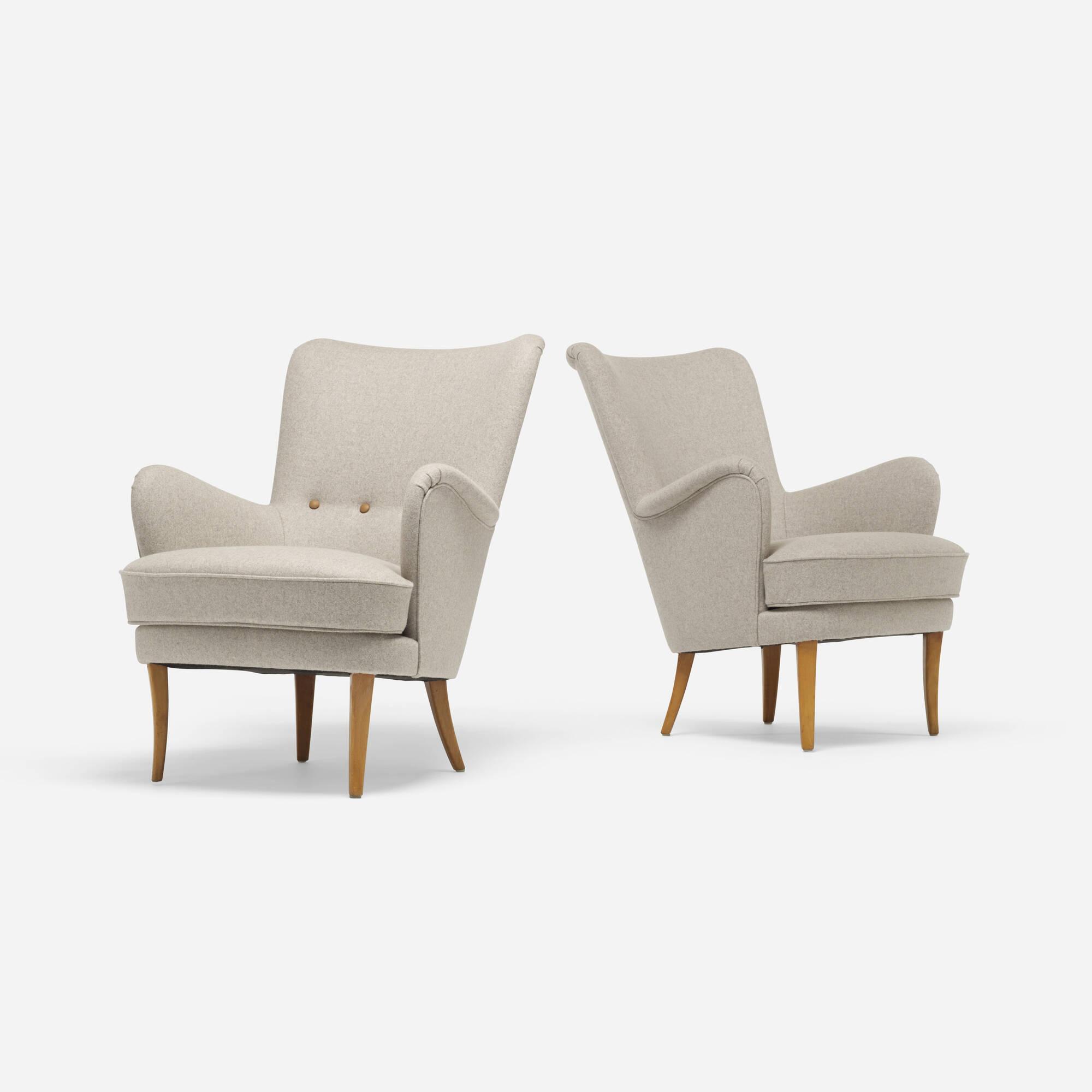 355: Swedish / Lounge Chairs, Pair (1 Of 3)