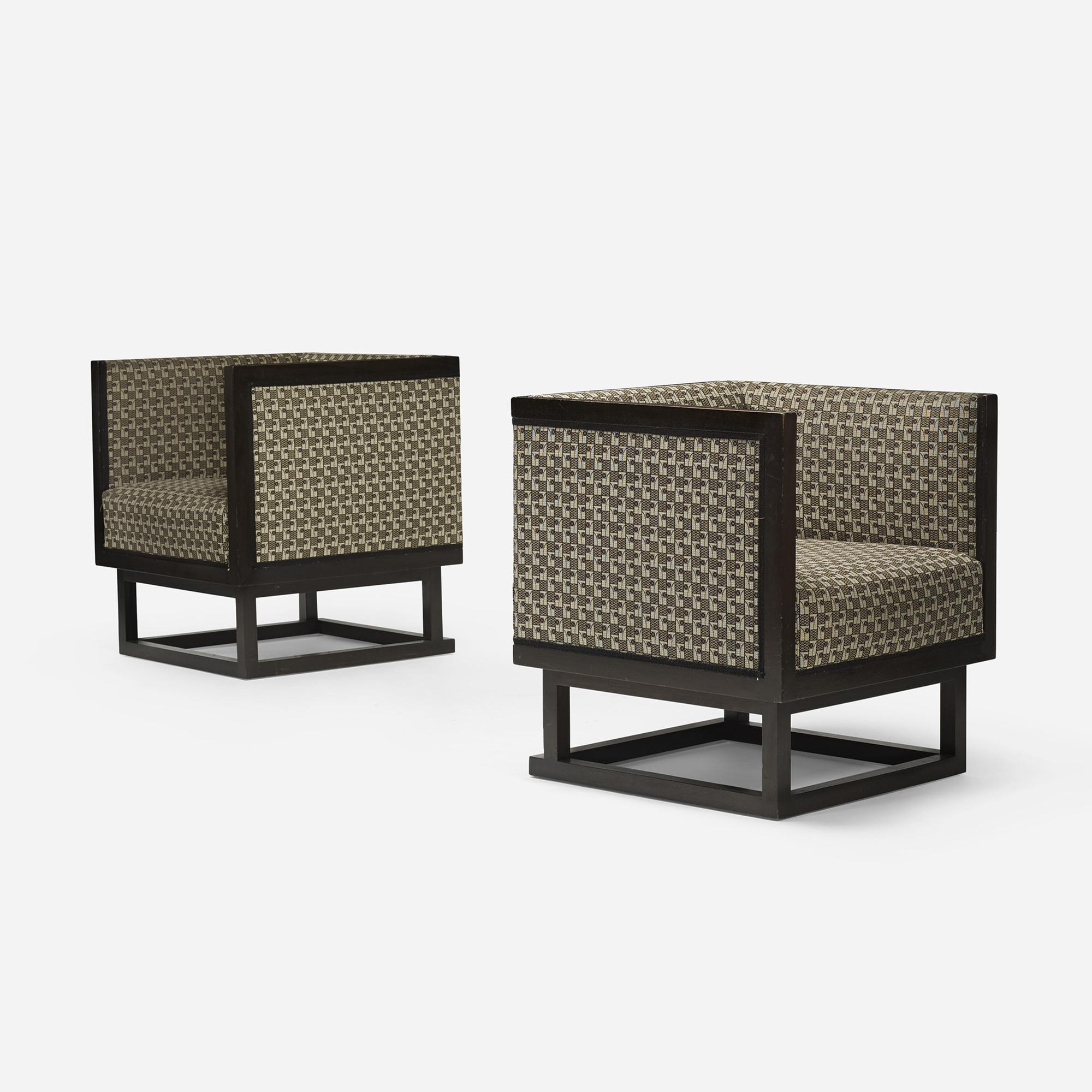 355: Josef Hoffmann / Cabinett lounge chairs, pair (1 of 5)