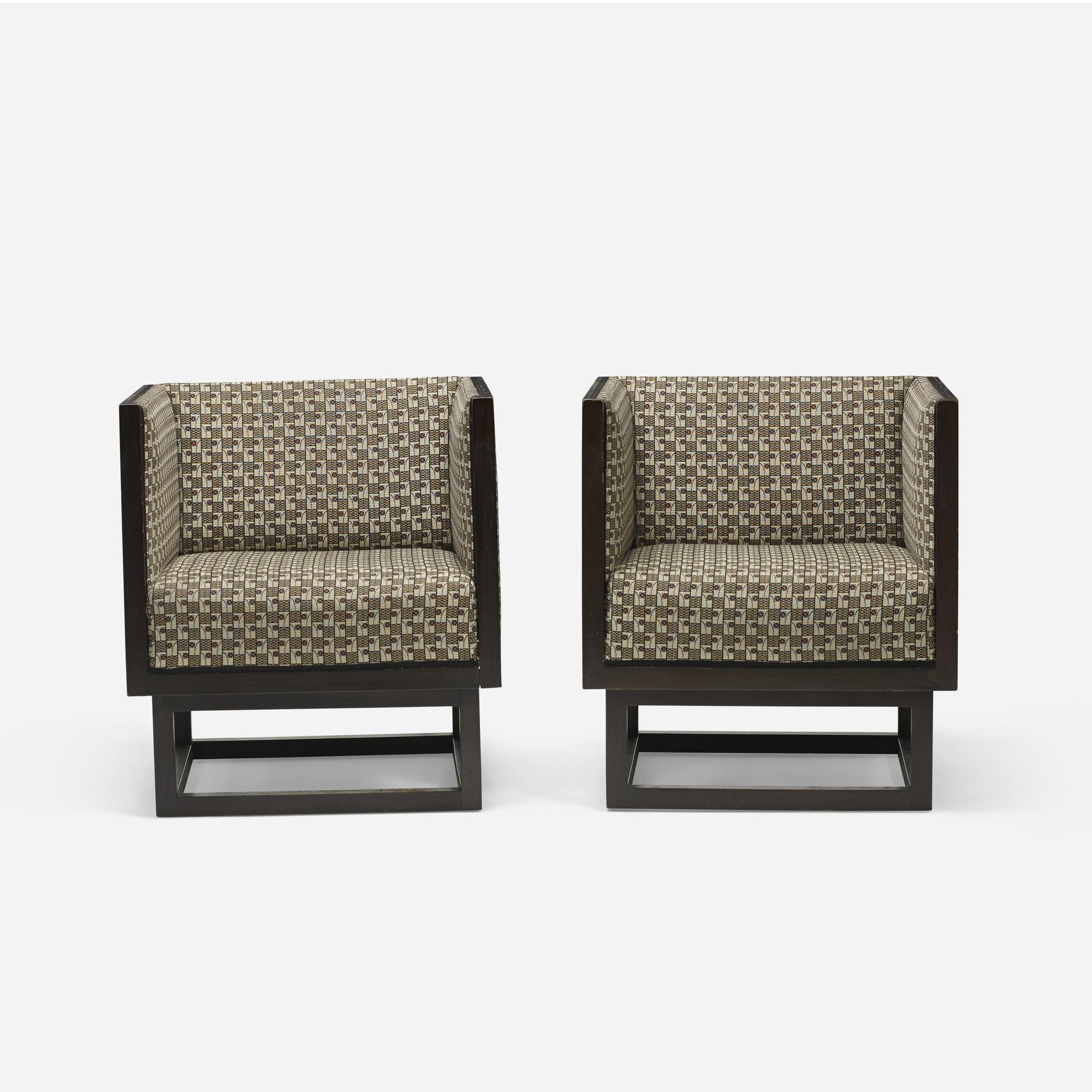 355: Josef Hoffmann / Cabinett lounge chairs, pair (2 of 5)