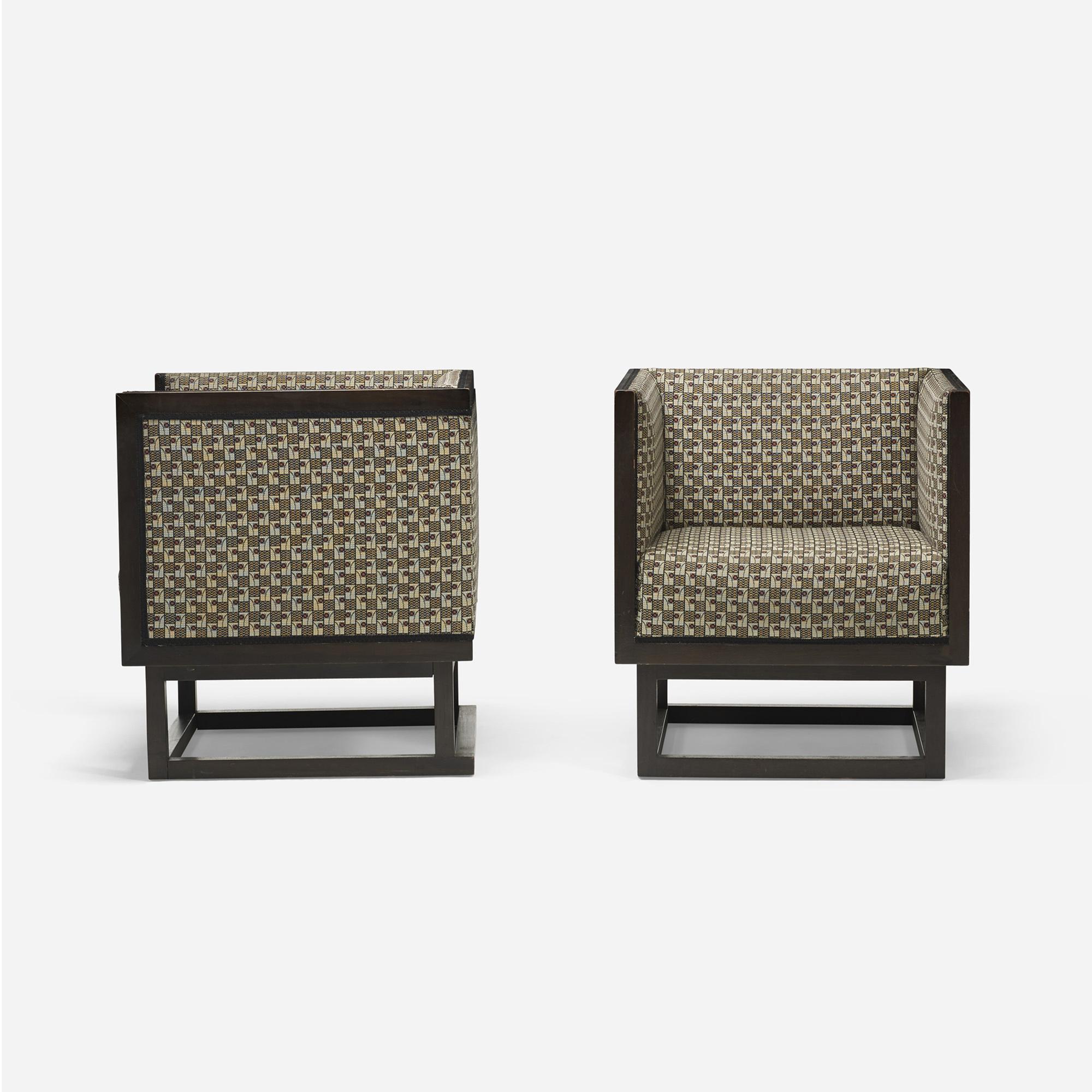 355: Josef Hoffmann / Cabinett lounge chairs, pair (3 of 5)
