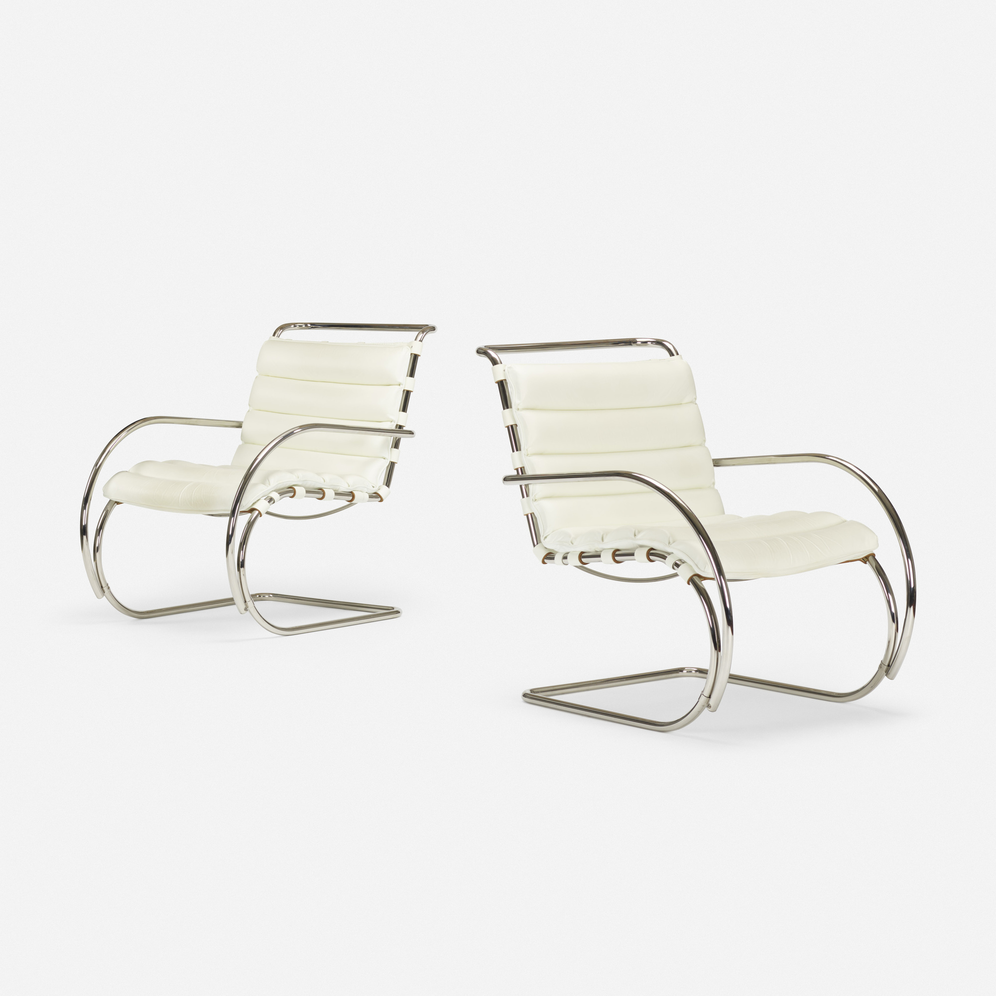 Sensational 356 Ludwig Mies Van Der Rohe Mr Lounge Chairs Pair Art Squirreltailoven Fun Painted Chair Ideas Images Squirreltailovenorg