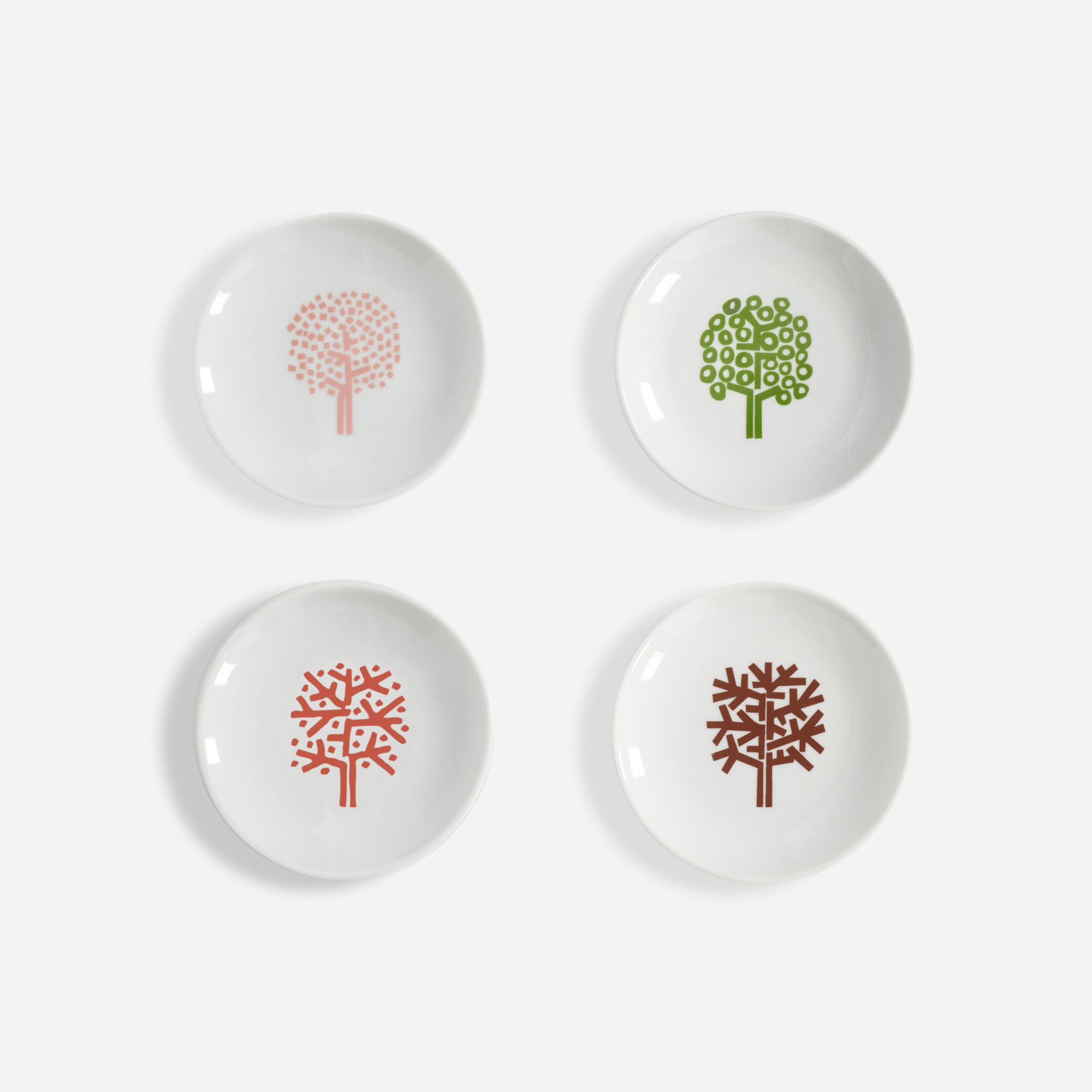 356:  / Four Seasons ashtrays, set of four (1 of 1)