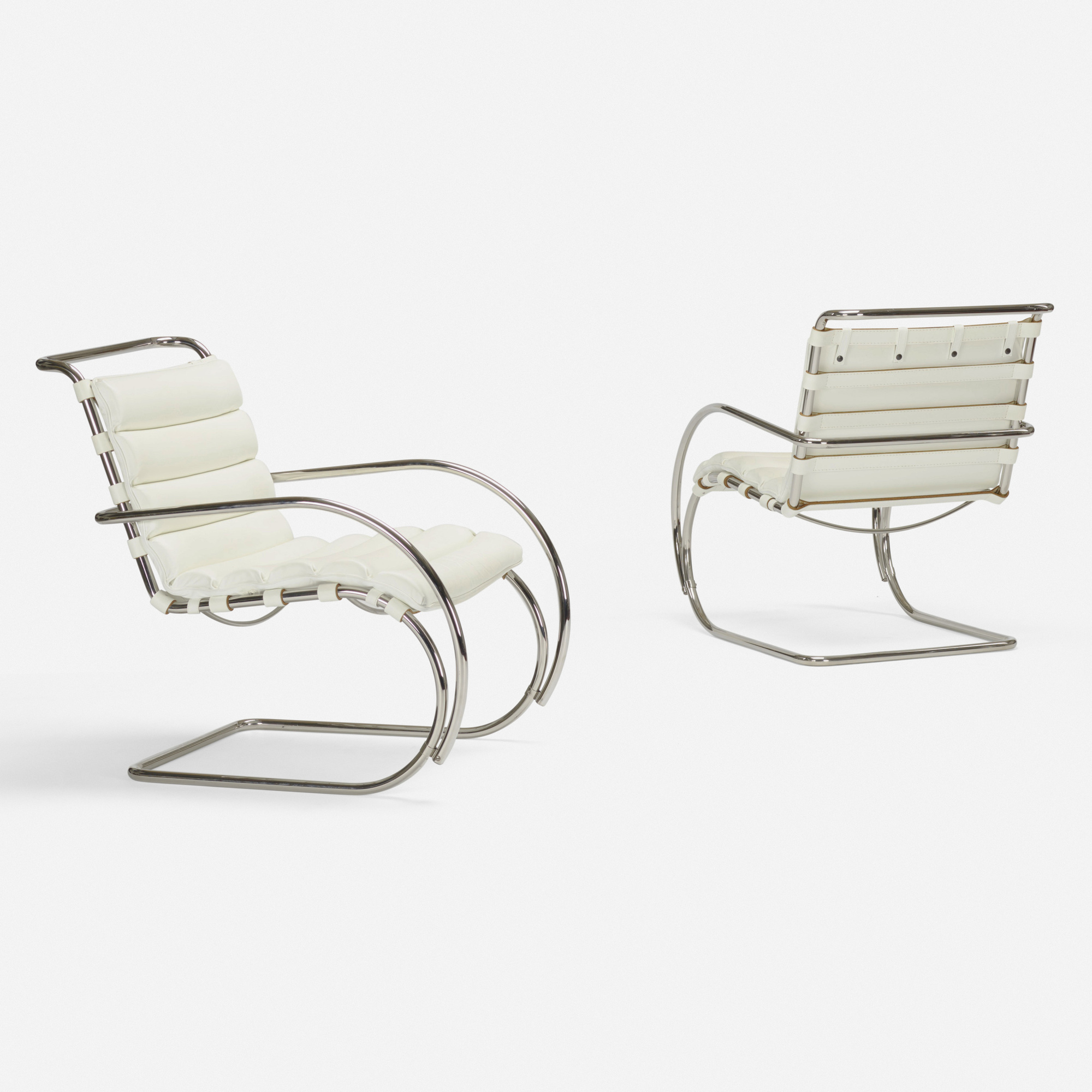Swell 356 Ludwig Mies Van Der Rohe Mr Lounge Chairs Pair Art Squirreltailoven Fun Painted Chair Ideas Images Squirreltailovenorg