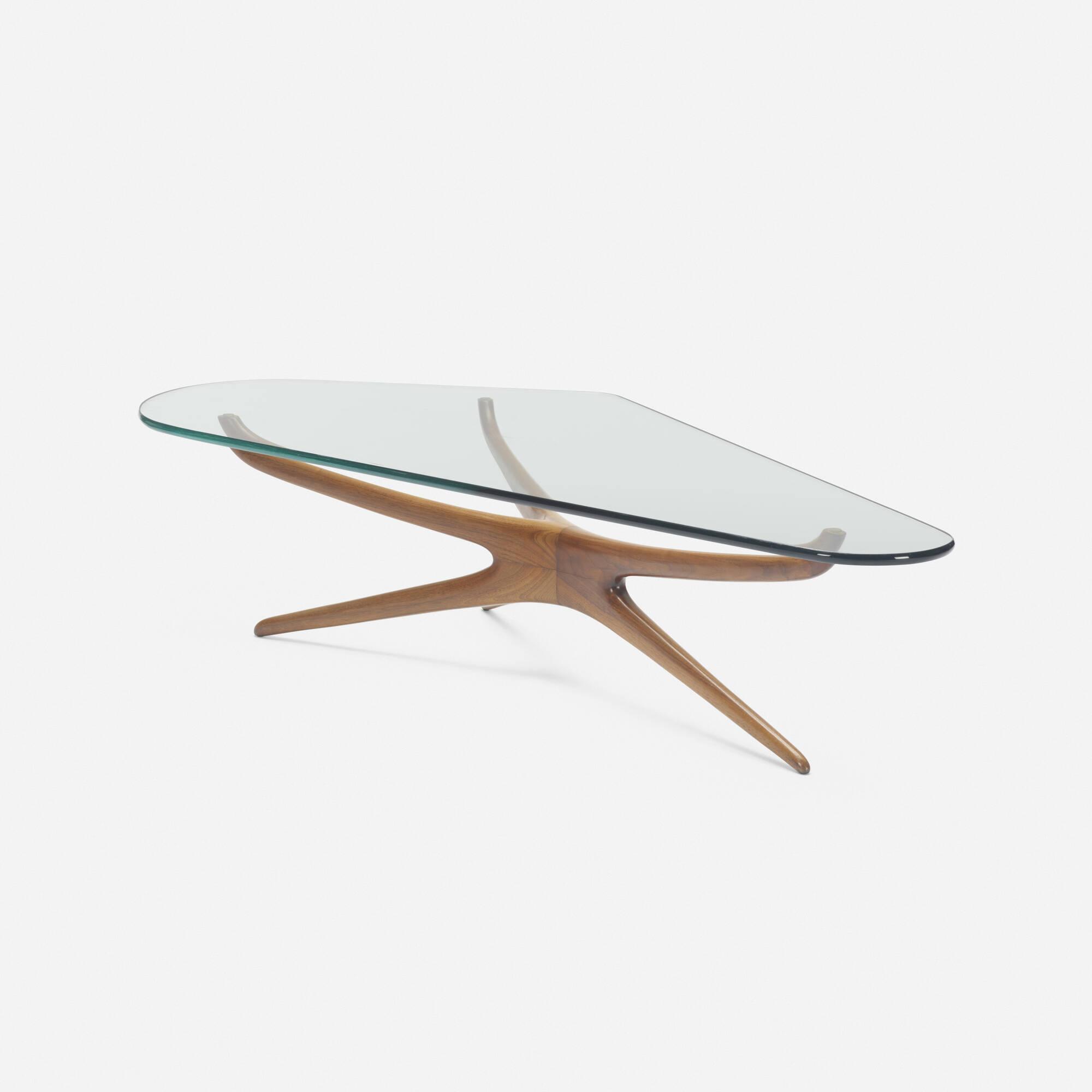 357: Vladimir Kagan / Tri-symmetric coffee table (1 of 2)