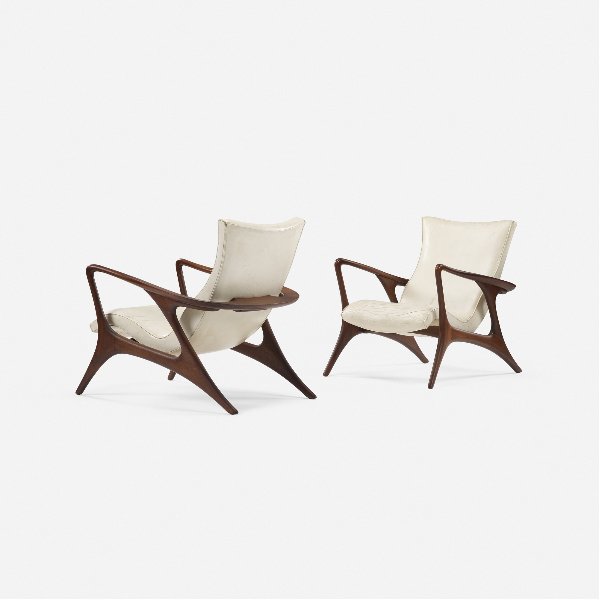 358: Vladimir Kagan / Contour lounge chairs, pair (1 of 5)
