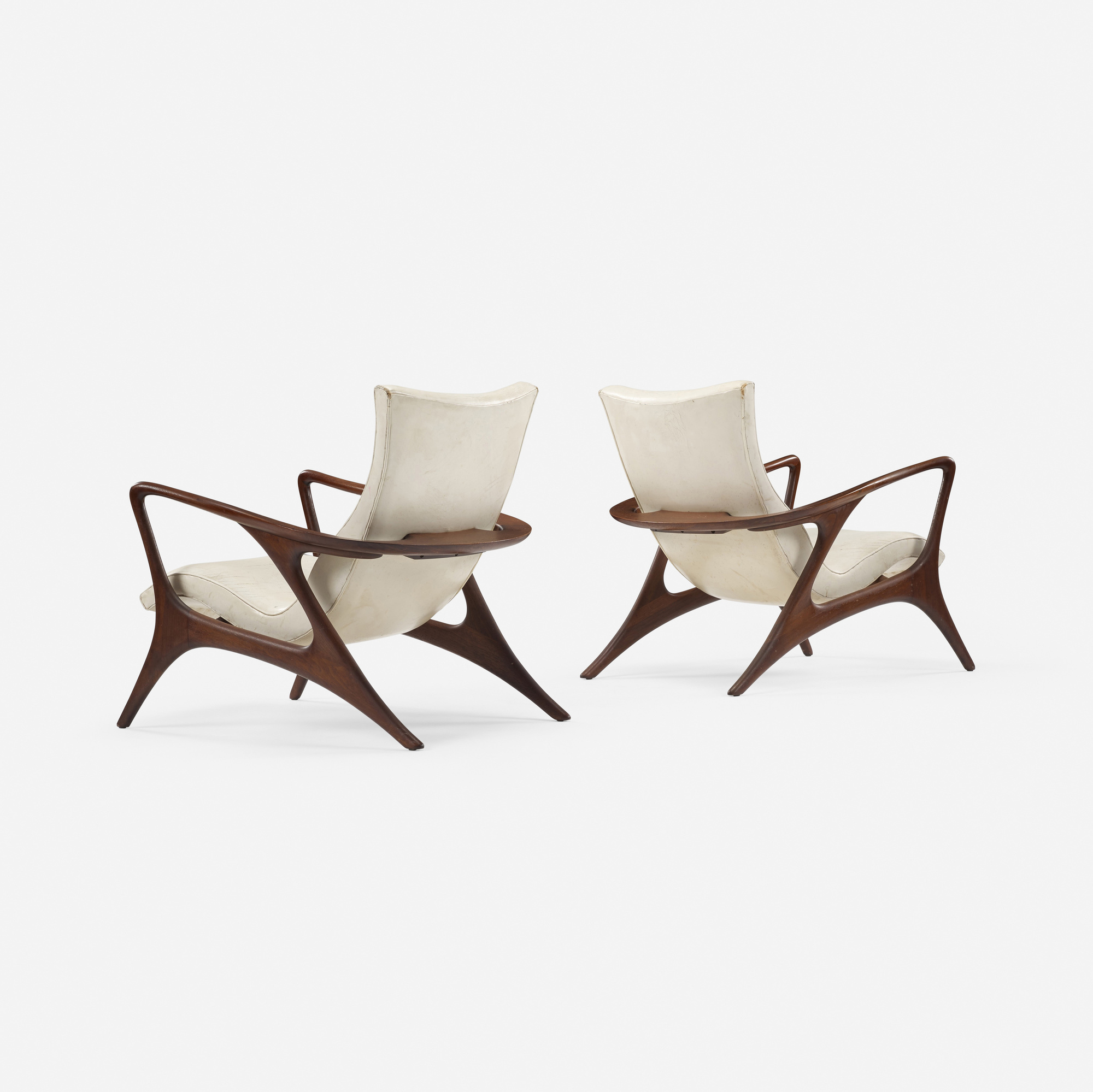 358: Vladimir Kagan / Contour lounge chairs, pair (2 of 5)