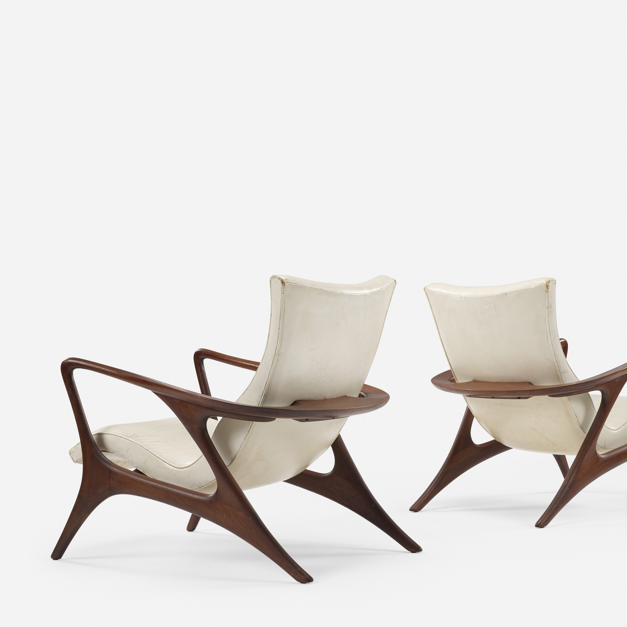 358: Vladimir Kagan / Contour lounge chairs, pair (3 of 5)