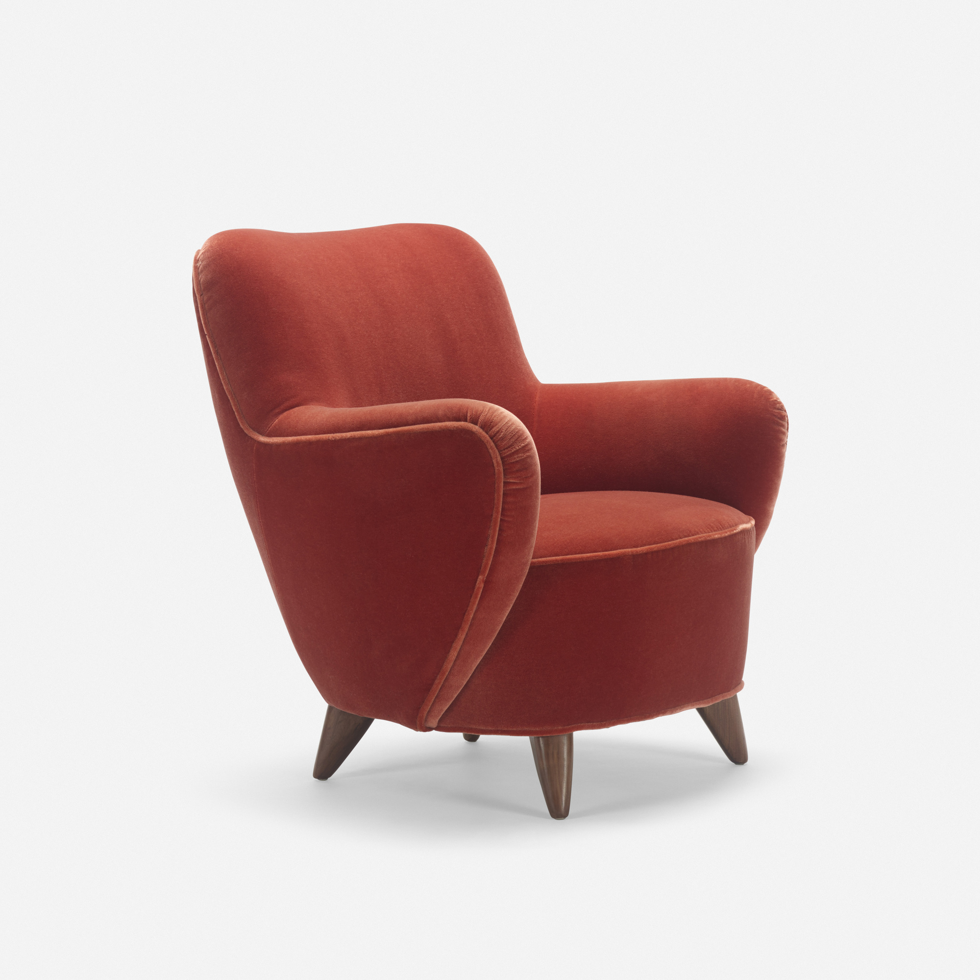 359: Vladimir Kagan / Barrel lounge chair, model 100A (1 of 1)