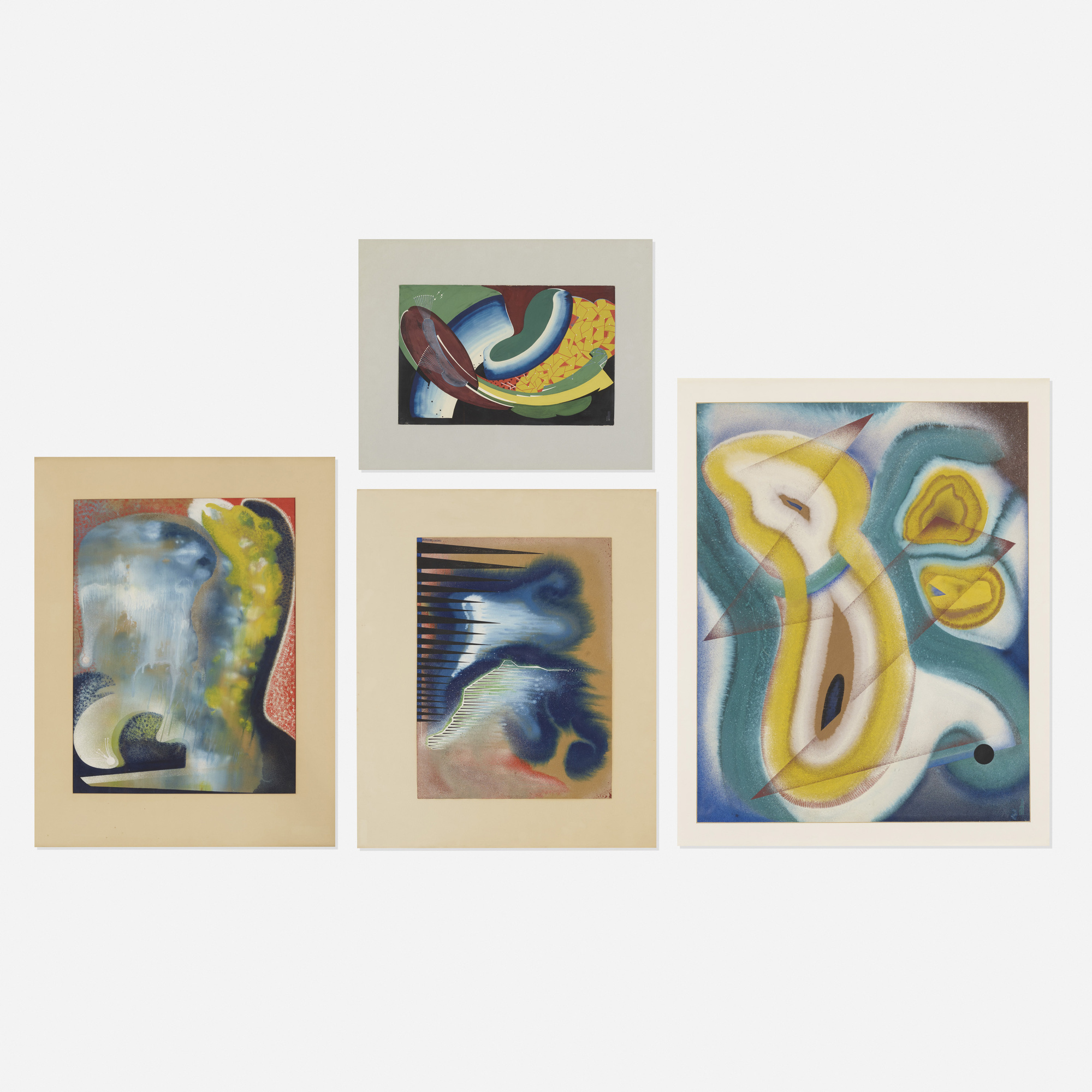 359: Marguerite Hohenberg / Untitled (four works) (1 of 1)