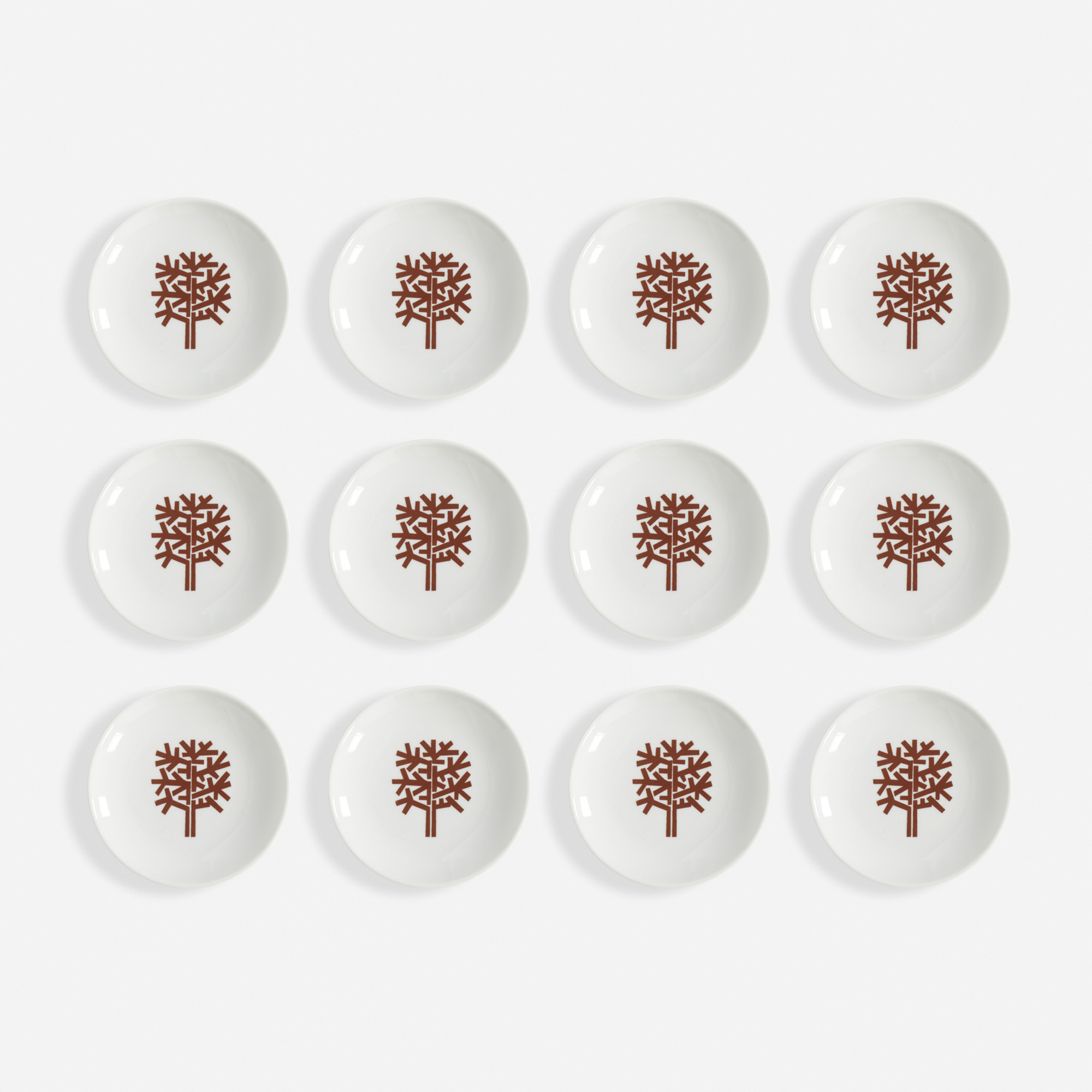 361:  / Four Seasons Winter ashtrays, set of twelve (1 of 1)