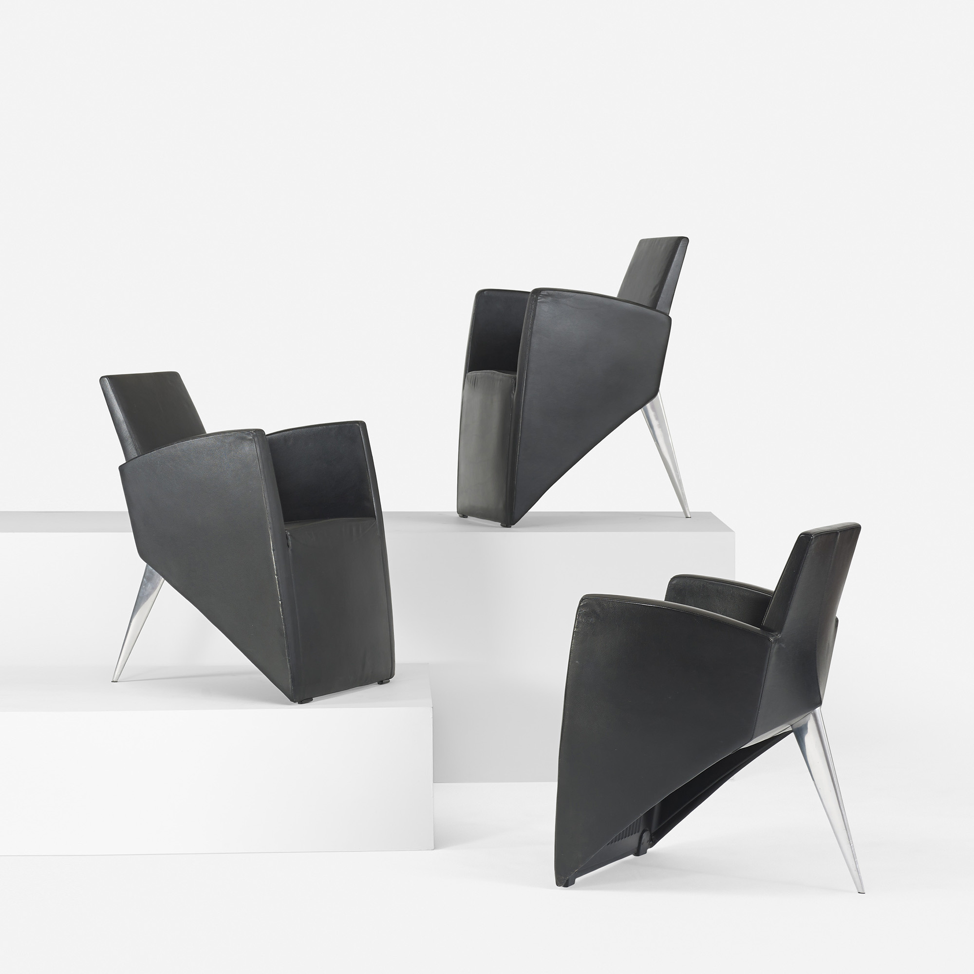 361 philippe starck j serie lang lounge chairs set of six. Black Bedroom Furniture Sets. Home Design Ideas