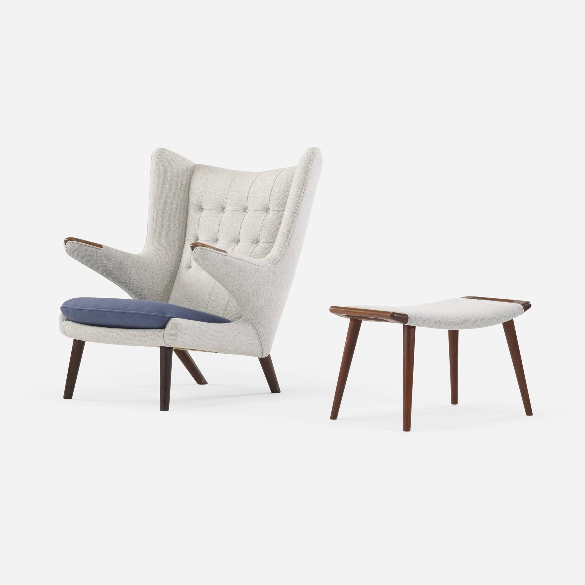 ... 363: Hans J. Wegner / Papa Bear Chair And Ottoman (2 Of 3