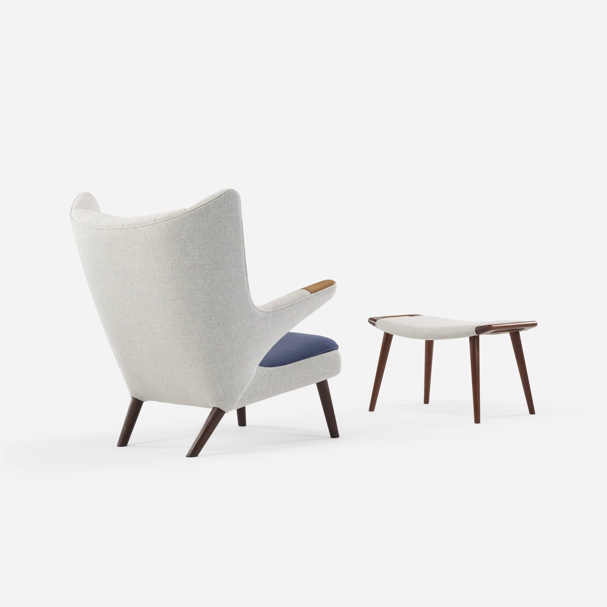 363 Hans J Wegner Papa Bear chair and ottoman Design 24