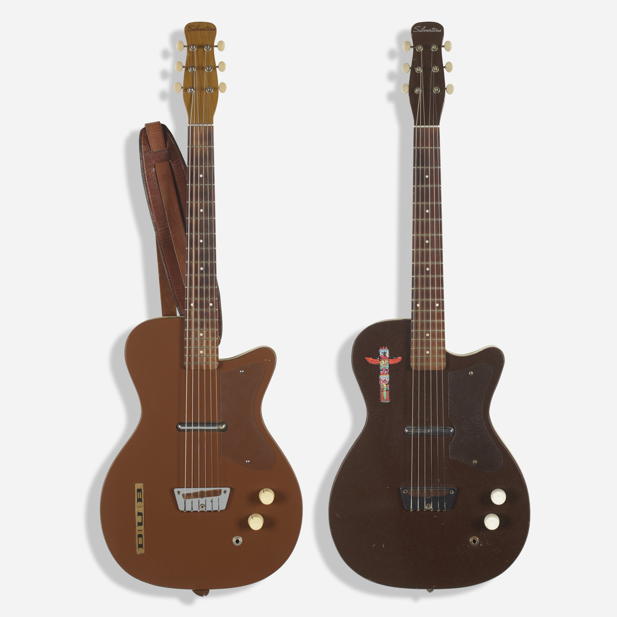 5b0951a0d6 364: SILVERTONE, U1 electric guitars, set of two < Rock Style from ...