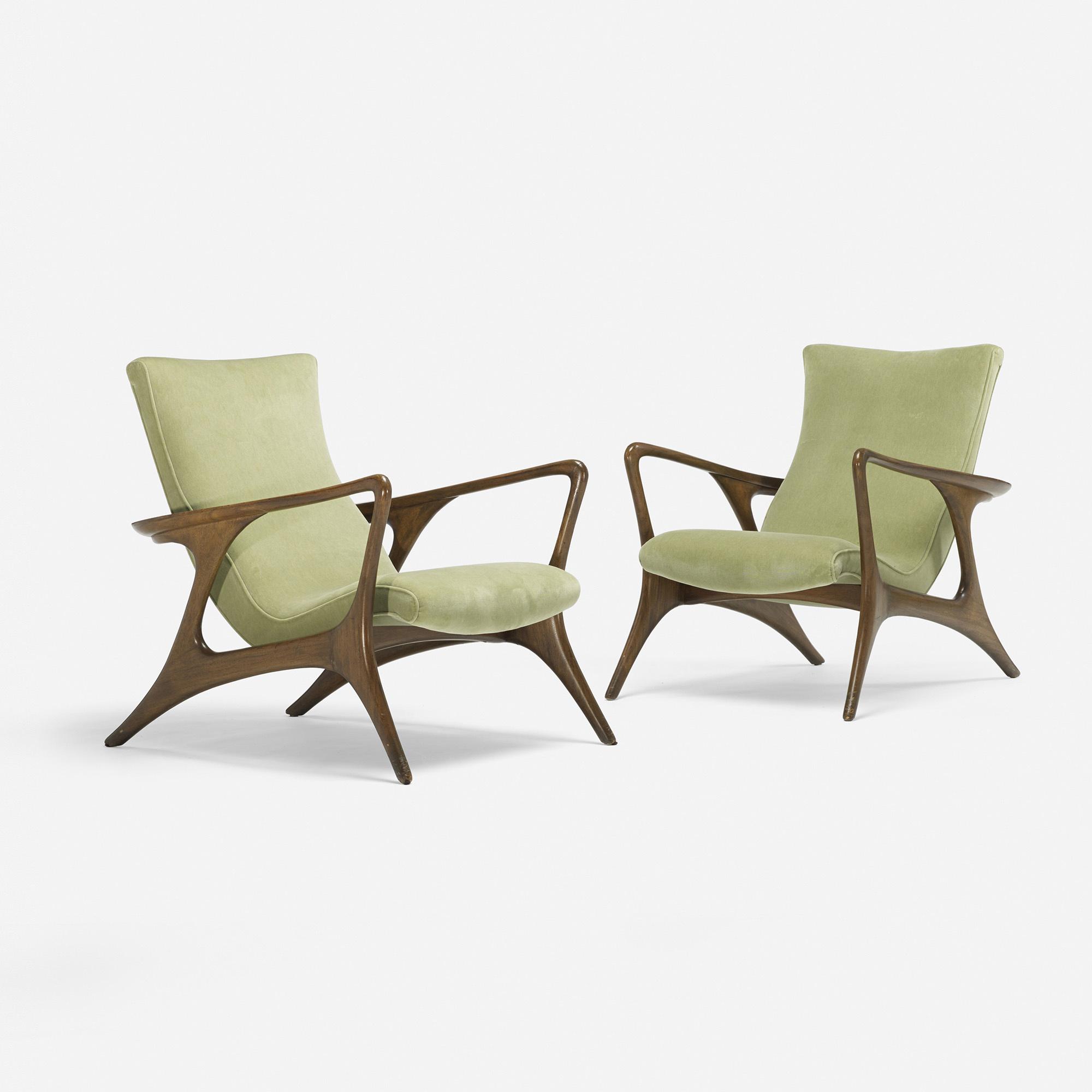 365 vladimir kagan contour lounge chairs pair for Furniture 365
