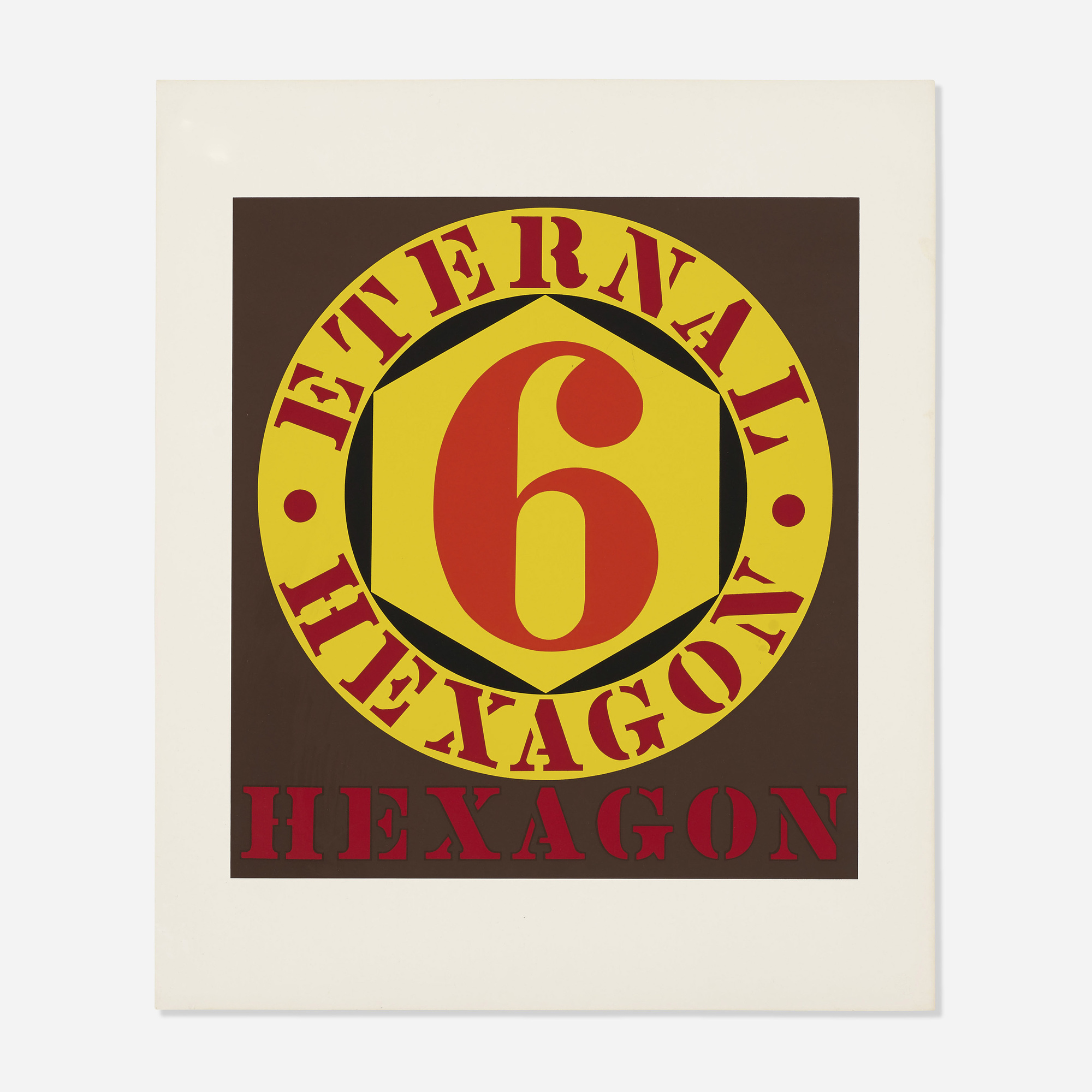 366: Robert Indiana / Eternal Hexagon (from the Ten Works x Ten Painters portfolio) (1 of 1)