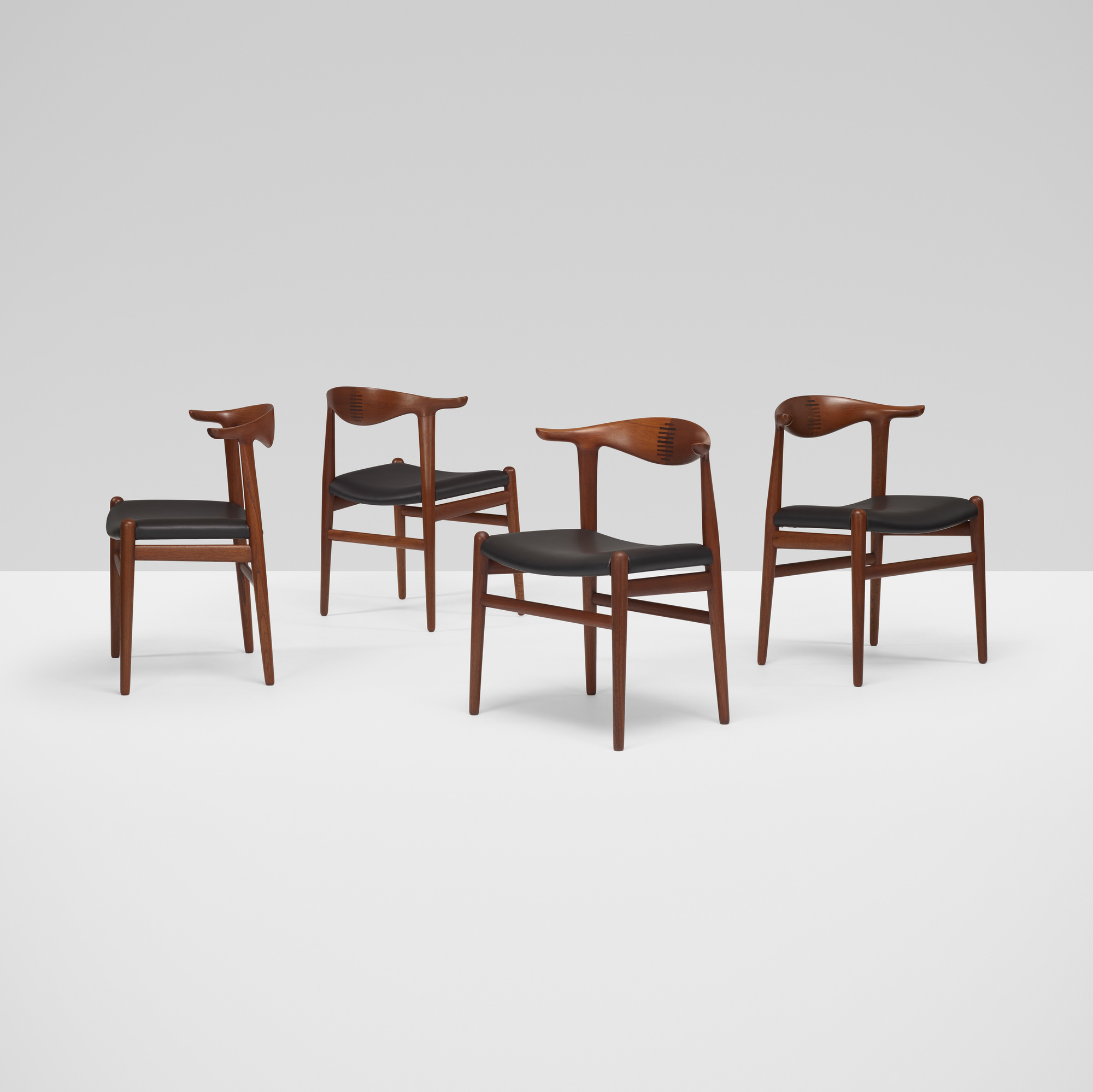 367: Hans J. Wegner / Cow Horn chairs, set of eight (2 of 7)