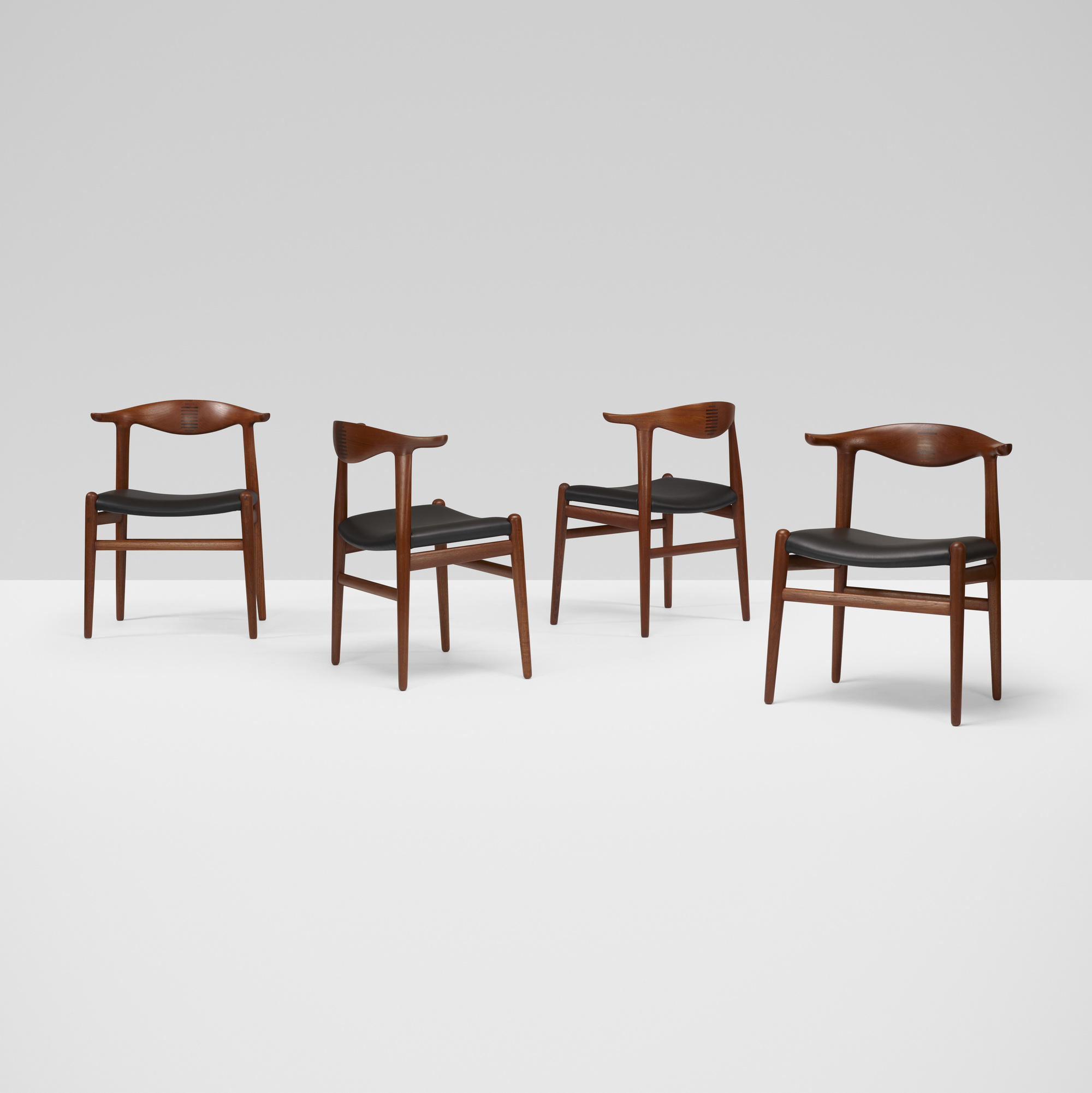 367: Hans J. Wegner / Cow Horn chairs, set of eight (3 of 7)
