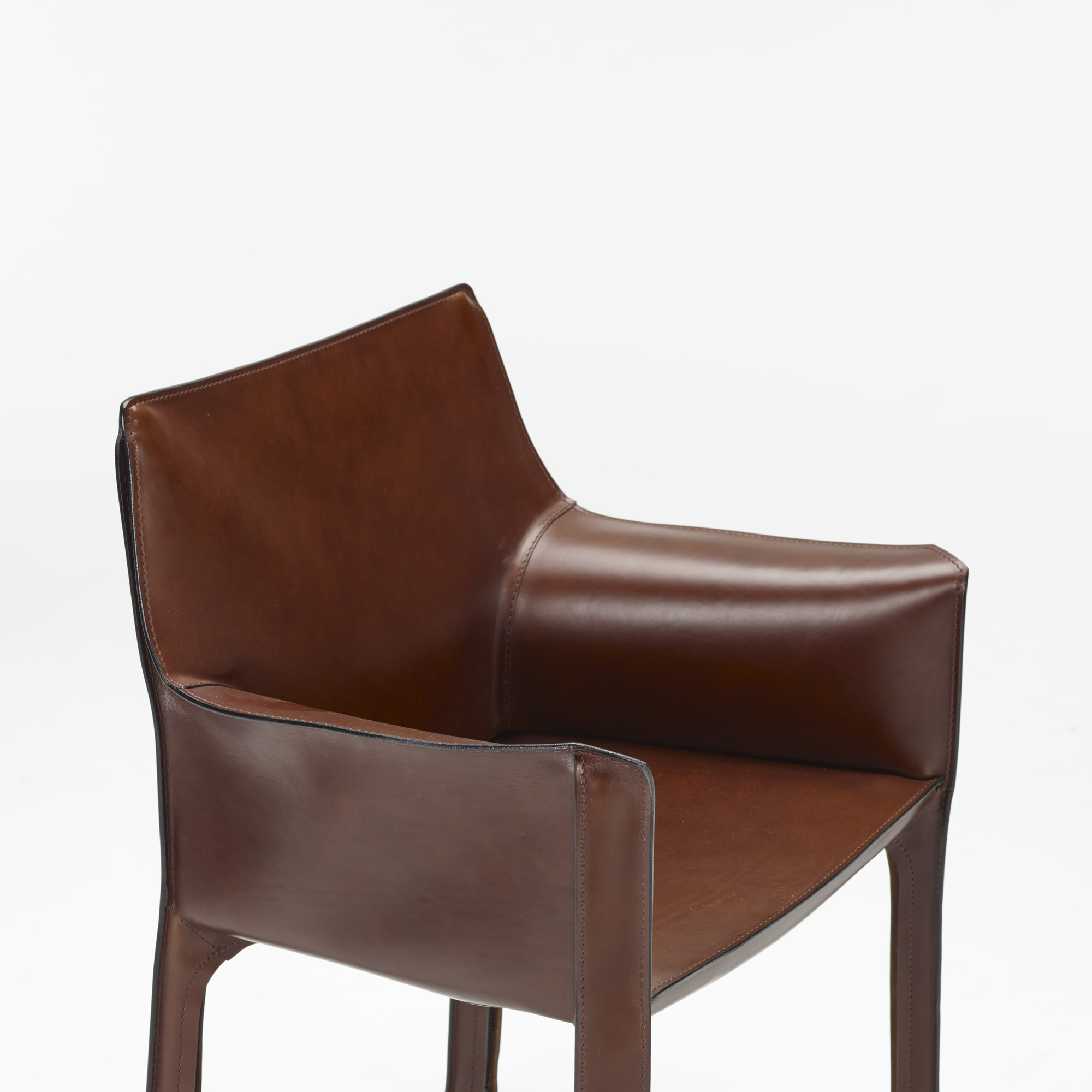 ... 368: Mario Bellini / Cab Chairs, Set Of Six (3 Of 4)