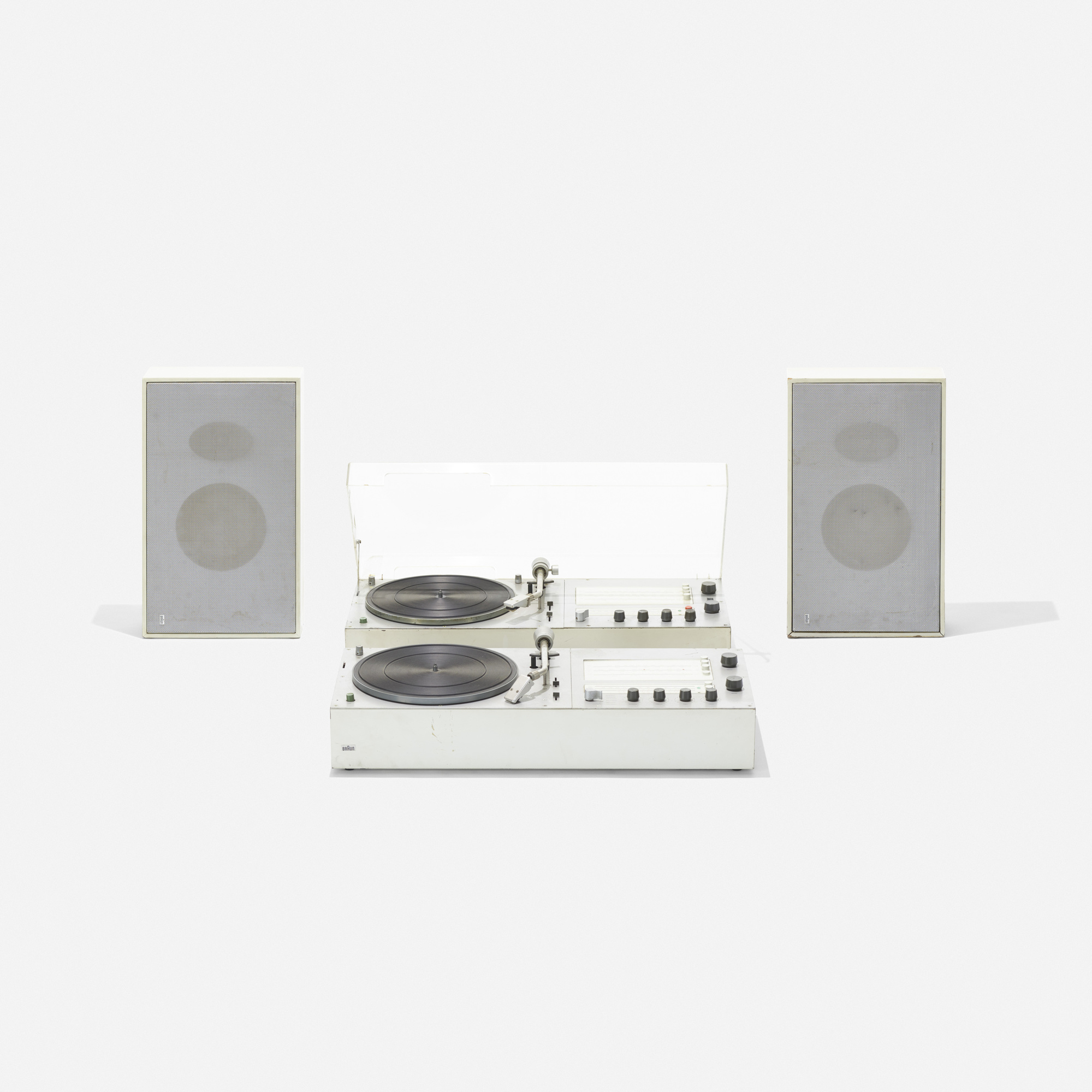 369: Dieter Rams / Audio 1 Radio-Phonographs with speakers, pair (1 of 2)