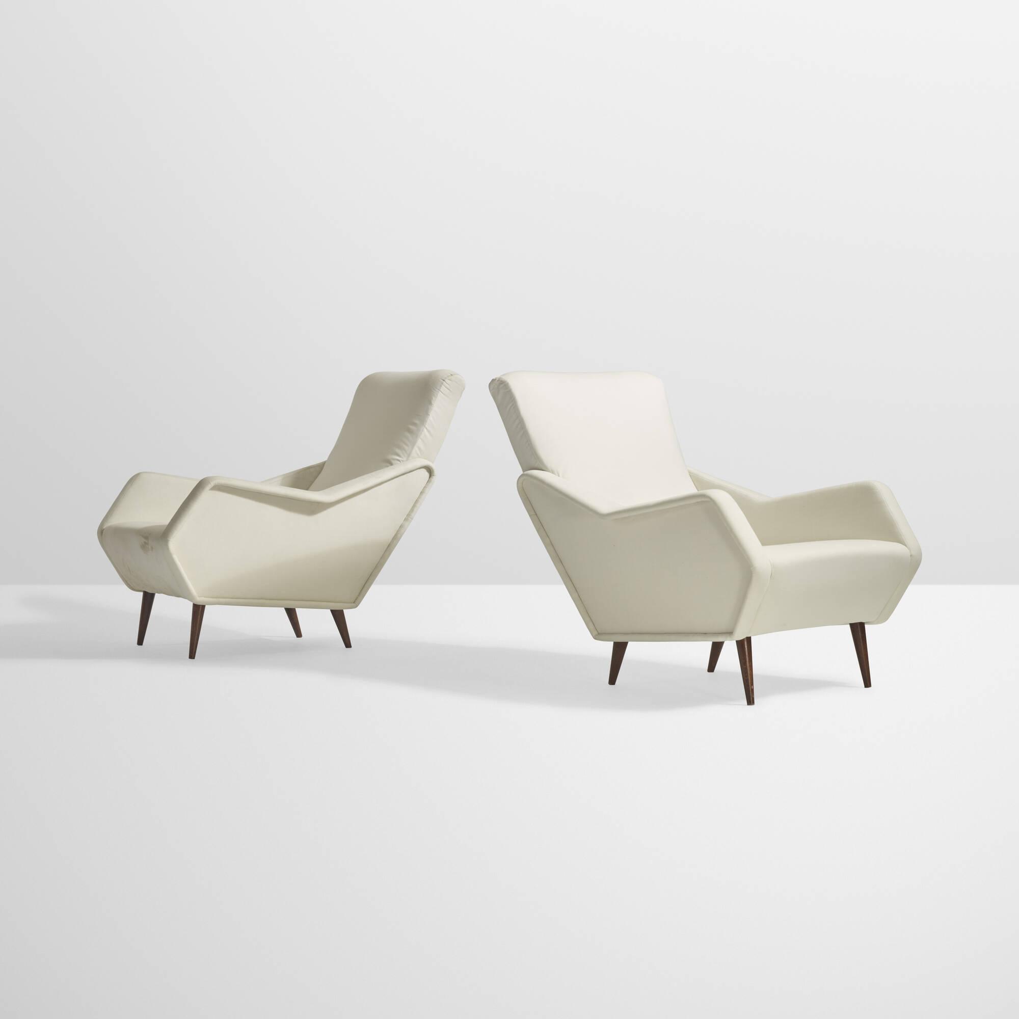 36: Gio Ponti / Rare lounge chairs, pair (1 of 5)
