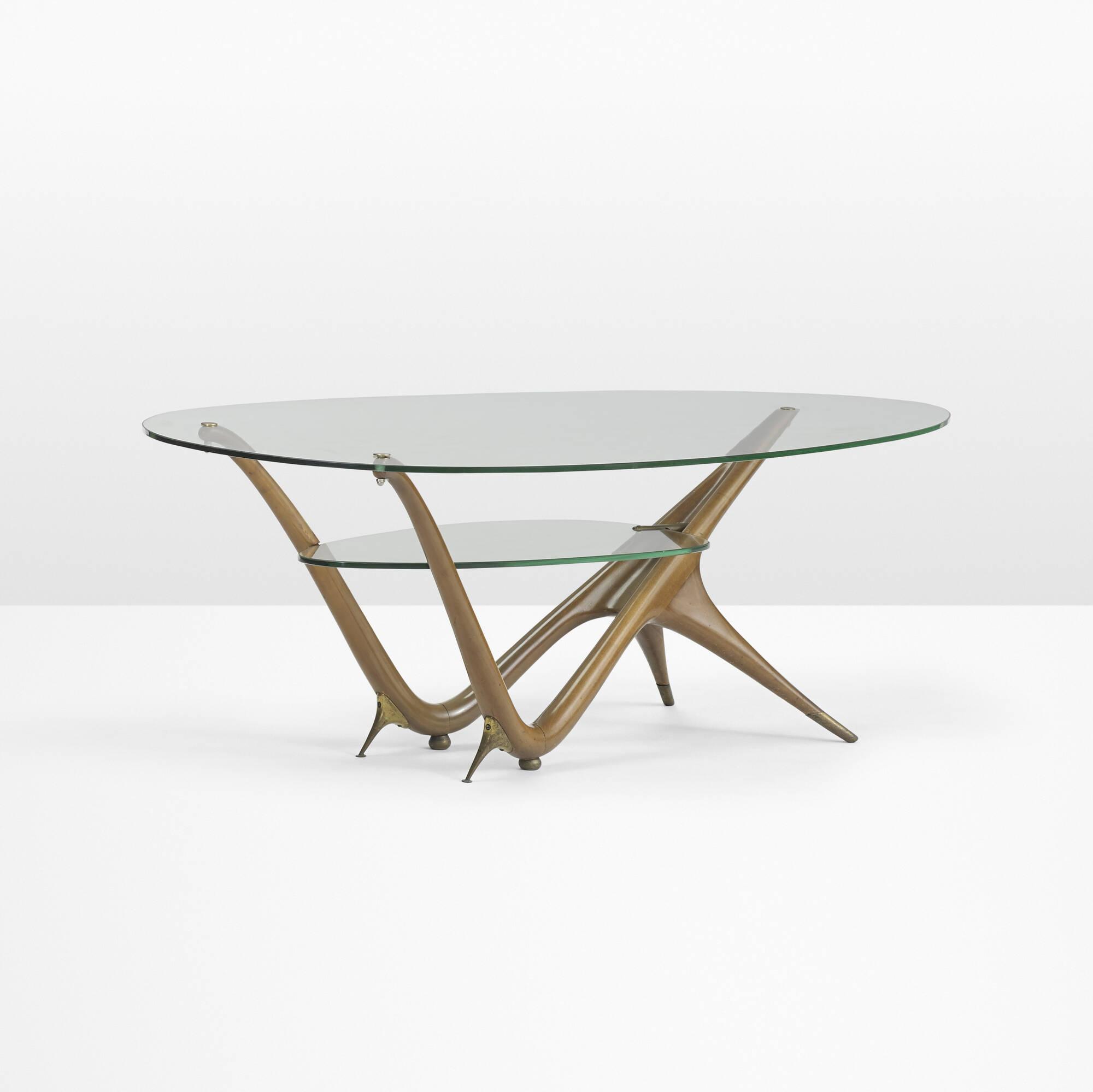 36 Carlo Mollino Important Coffee Table Model 1114