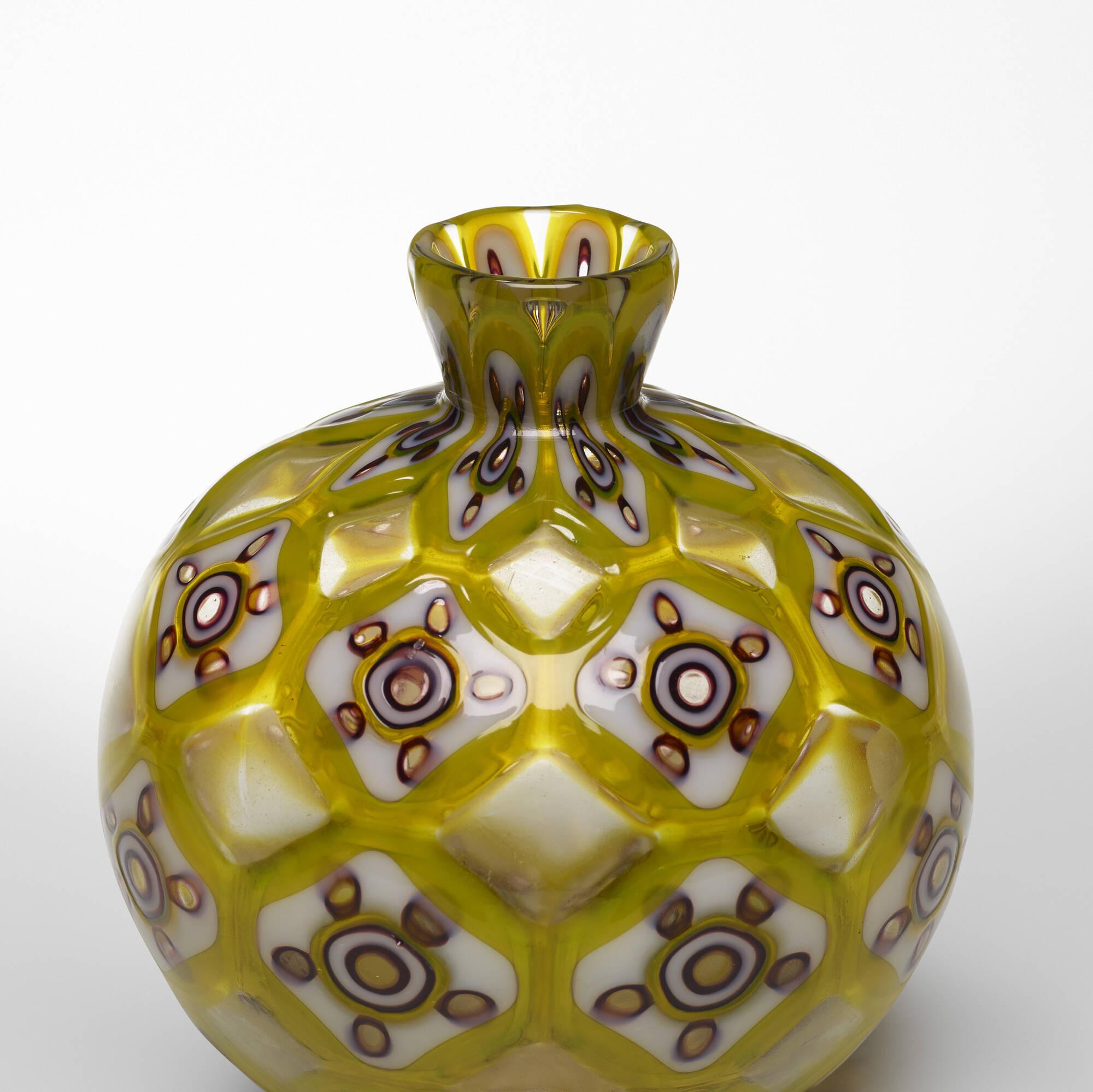 36: Ercole Barovier / Rare Tessere Policrome vase (3 of 4)