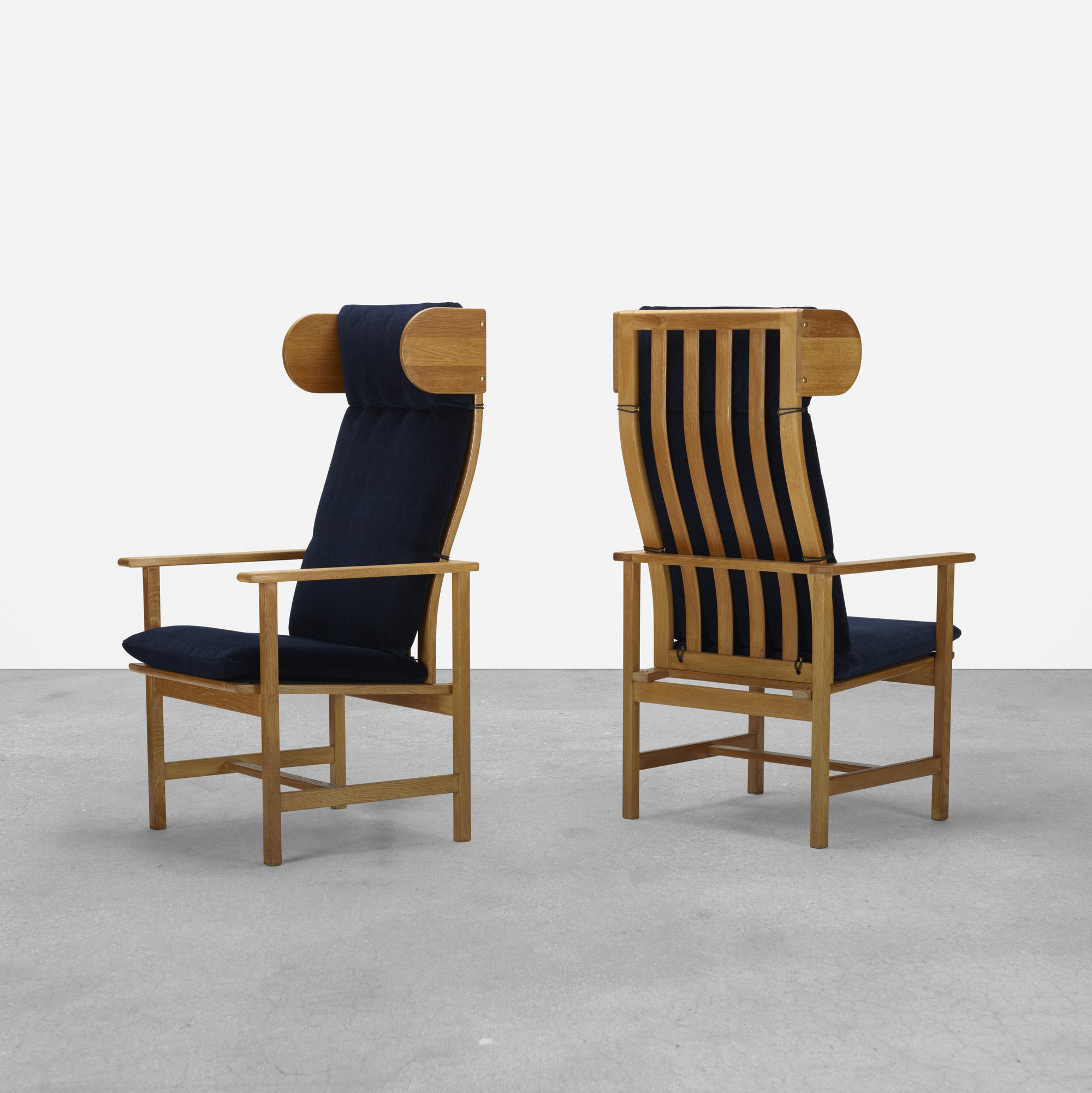 370: Børge Mogensen / armchairs, pair (1 of 5)