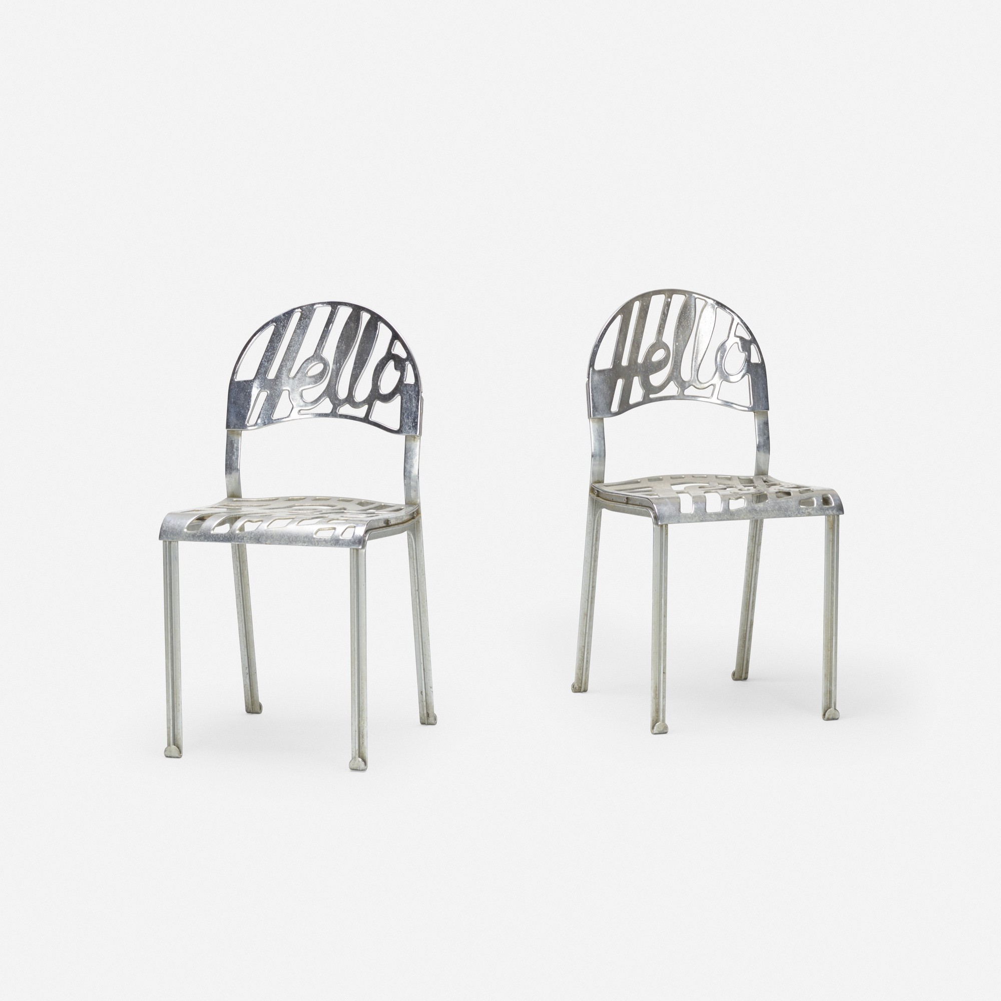 371: Jeremy Harvey / Hello There chairs, pair (1 of 2)