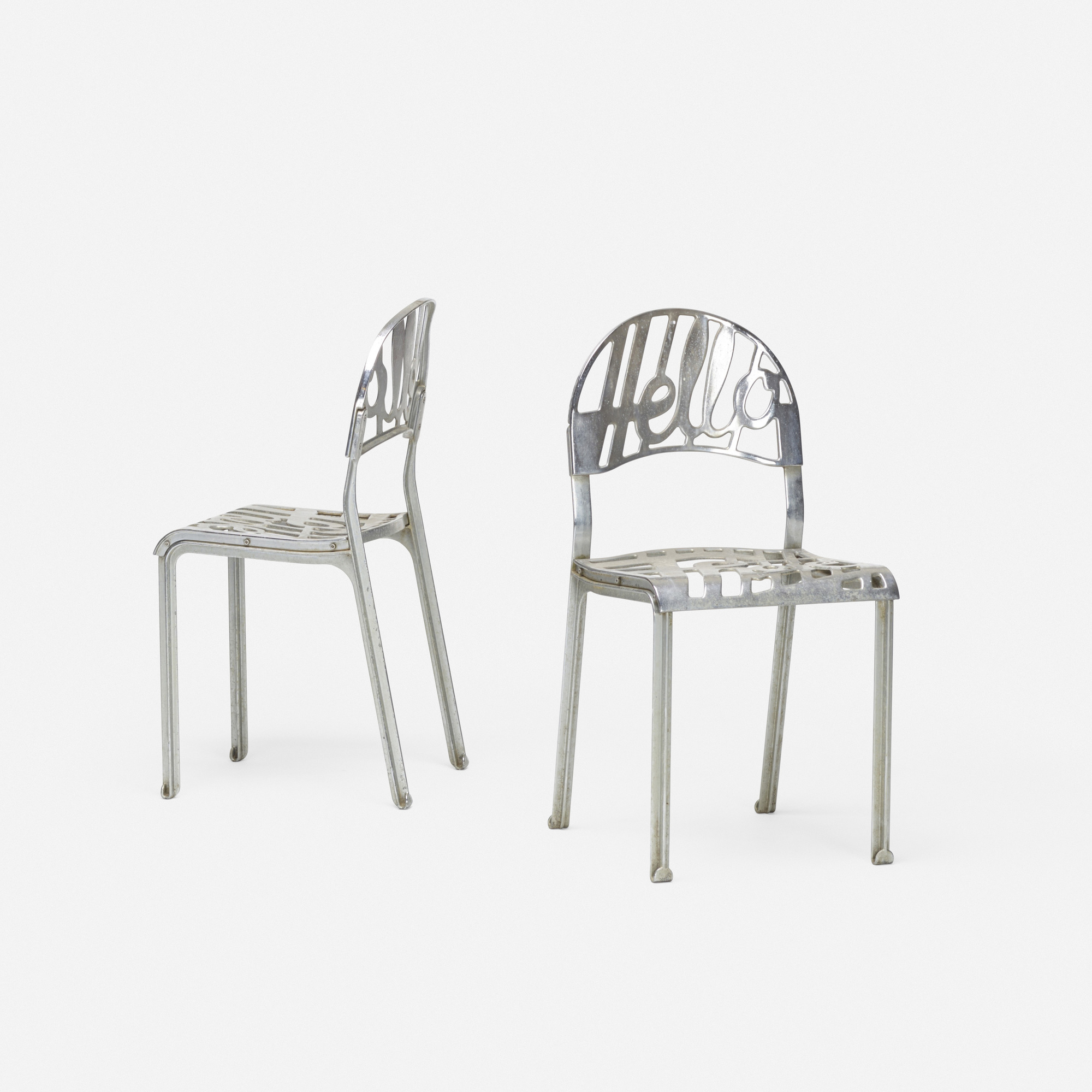 371: Jeremy Harvey / Hello There chairs, pair (2 of 2)