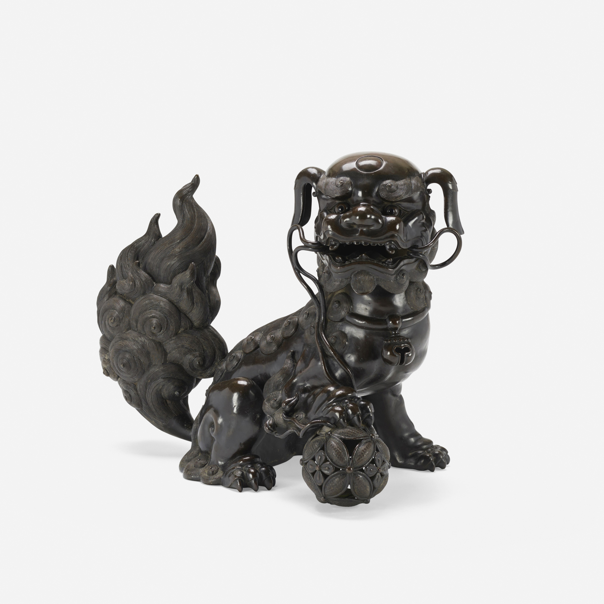 372: Chinese / Foo Dog incense burner (1 of 3)