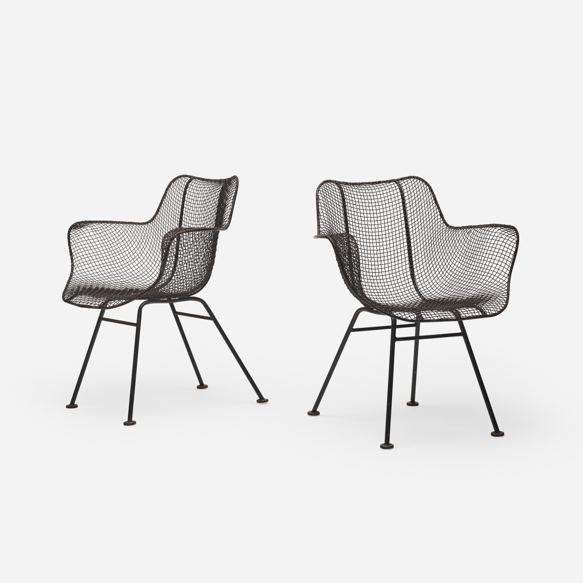 375: Russell Woodard / Sculptura armchairs, pair (1 of 2)