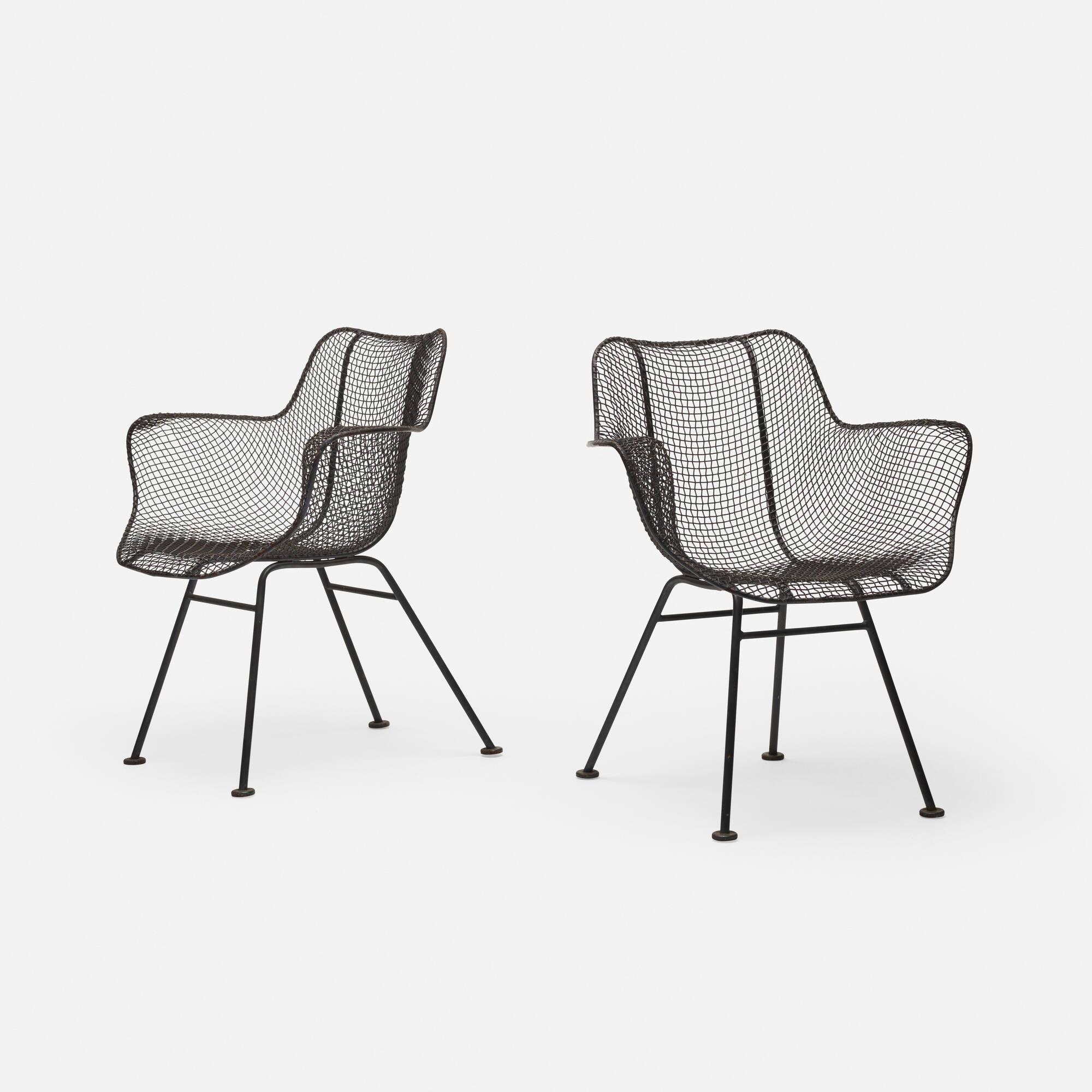 375: Russell Woodard / Sculptura armchairs, pair (1 of 2)