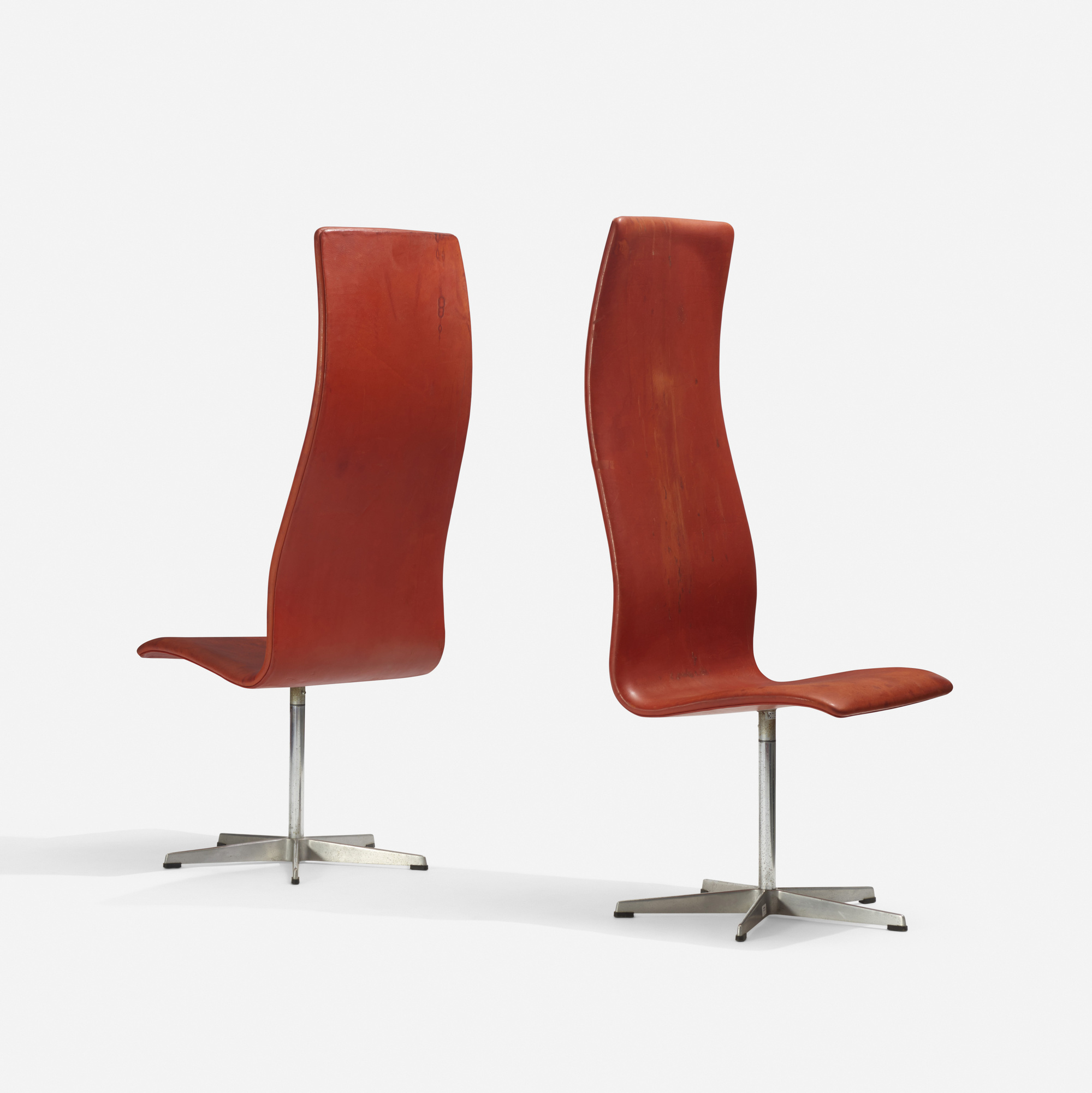 375: Arne Jacobsen / Oxford chairs model 7403, pair (1 of 1)