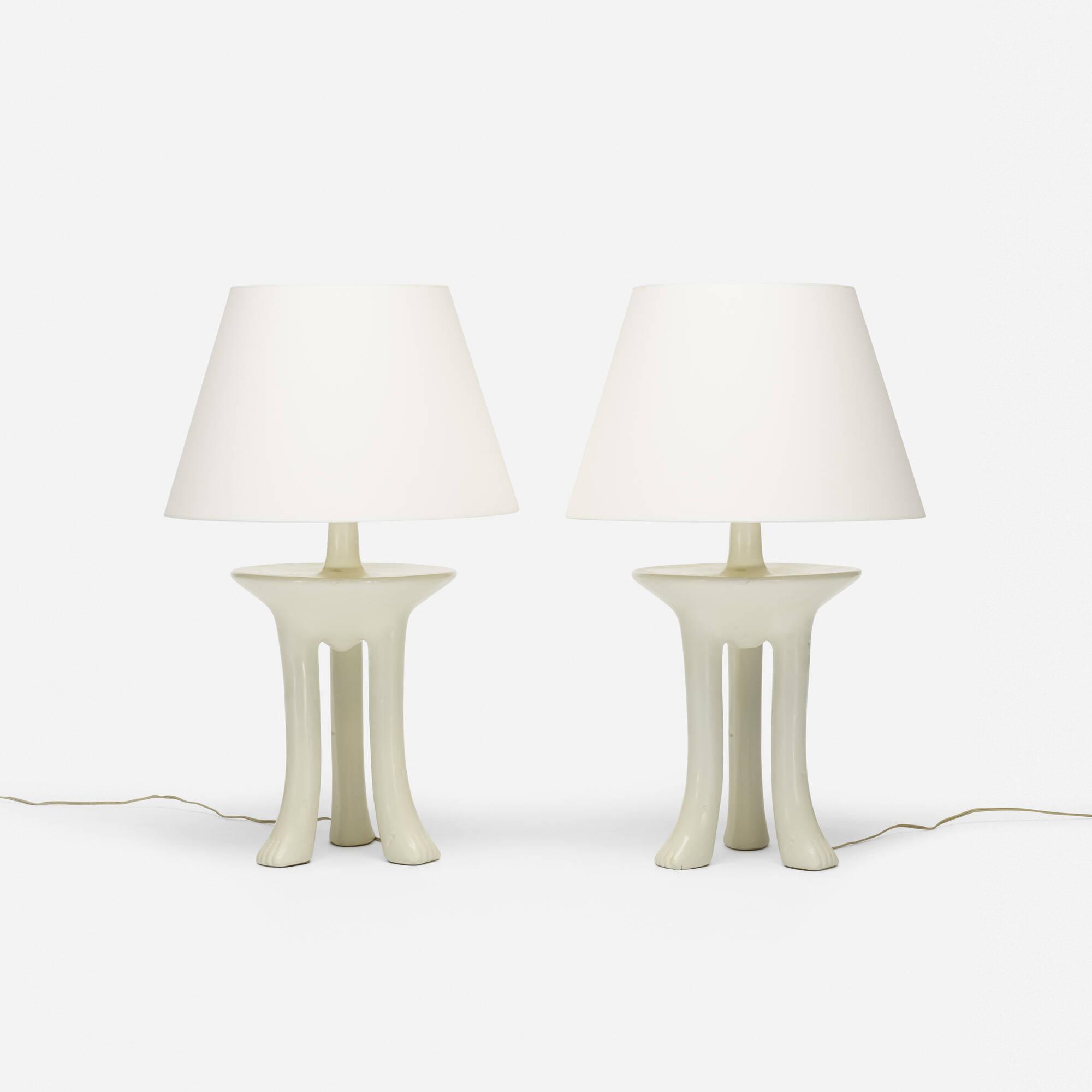 376: John Dickinson / African table lamps, pair (1 of 3)