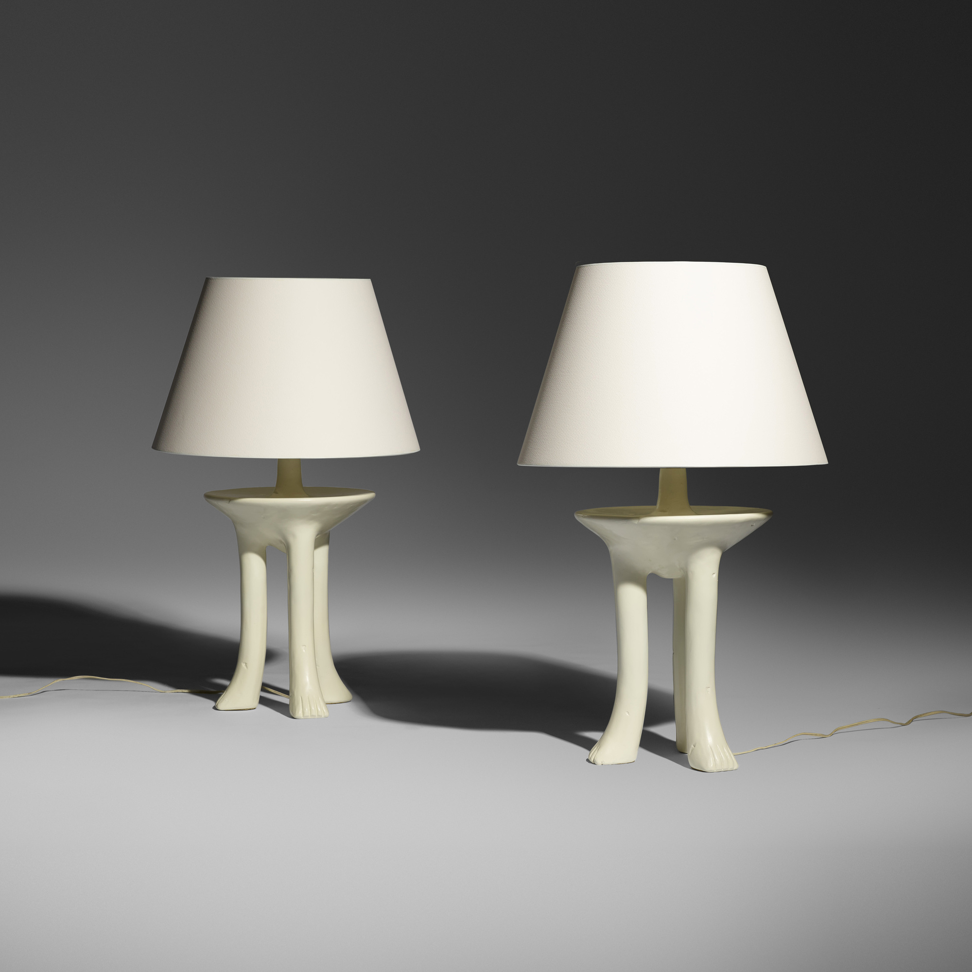 376: John Dickinson / African table lamps, pair (2 of 3)