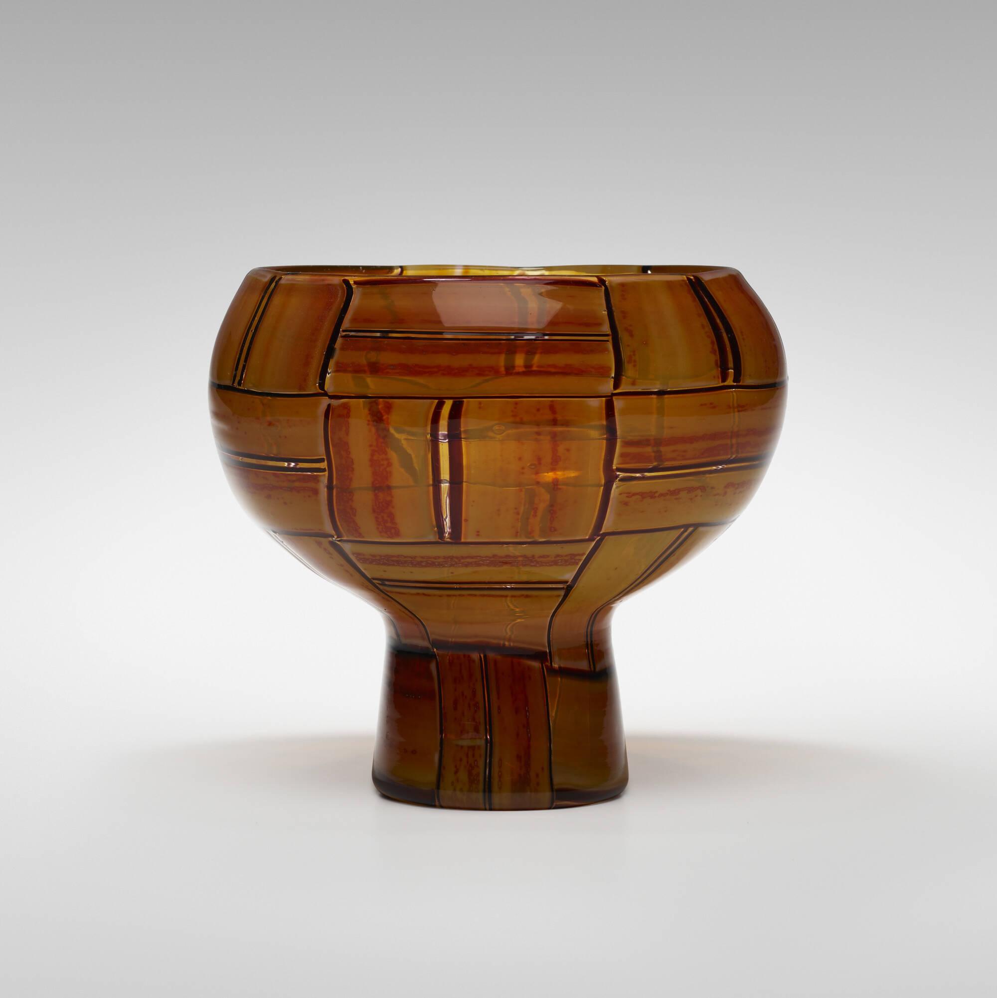 37: Ercole Barovier / Tessere Ambra vase (2 of 5)
