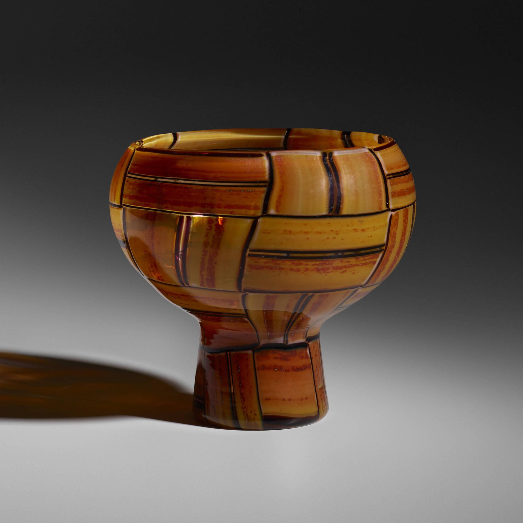 37: Ercole Barovier / Tessere Ambra vase (3 of 5)