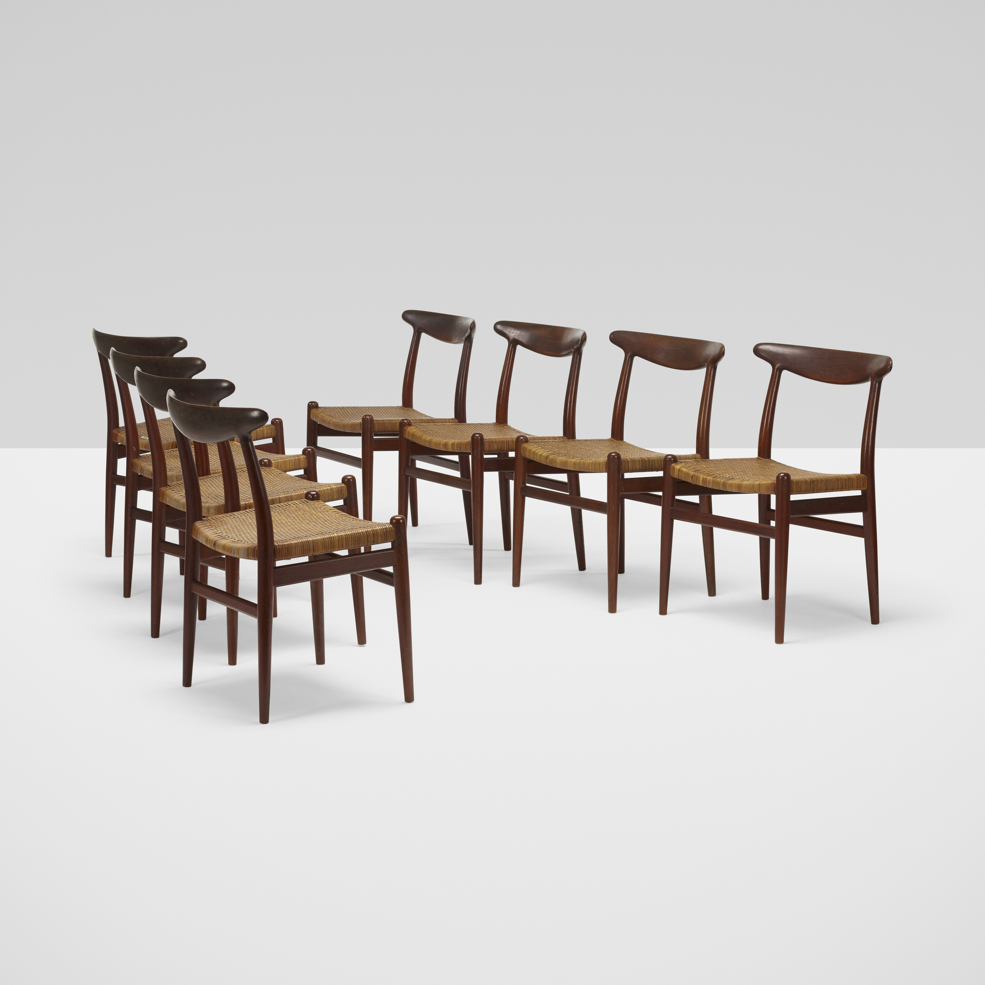 380: Hans J. Wegner / dining chairs, set of eight (1 of 5)
