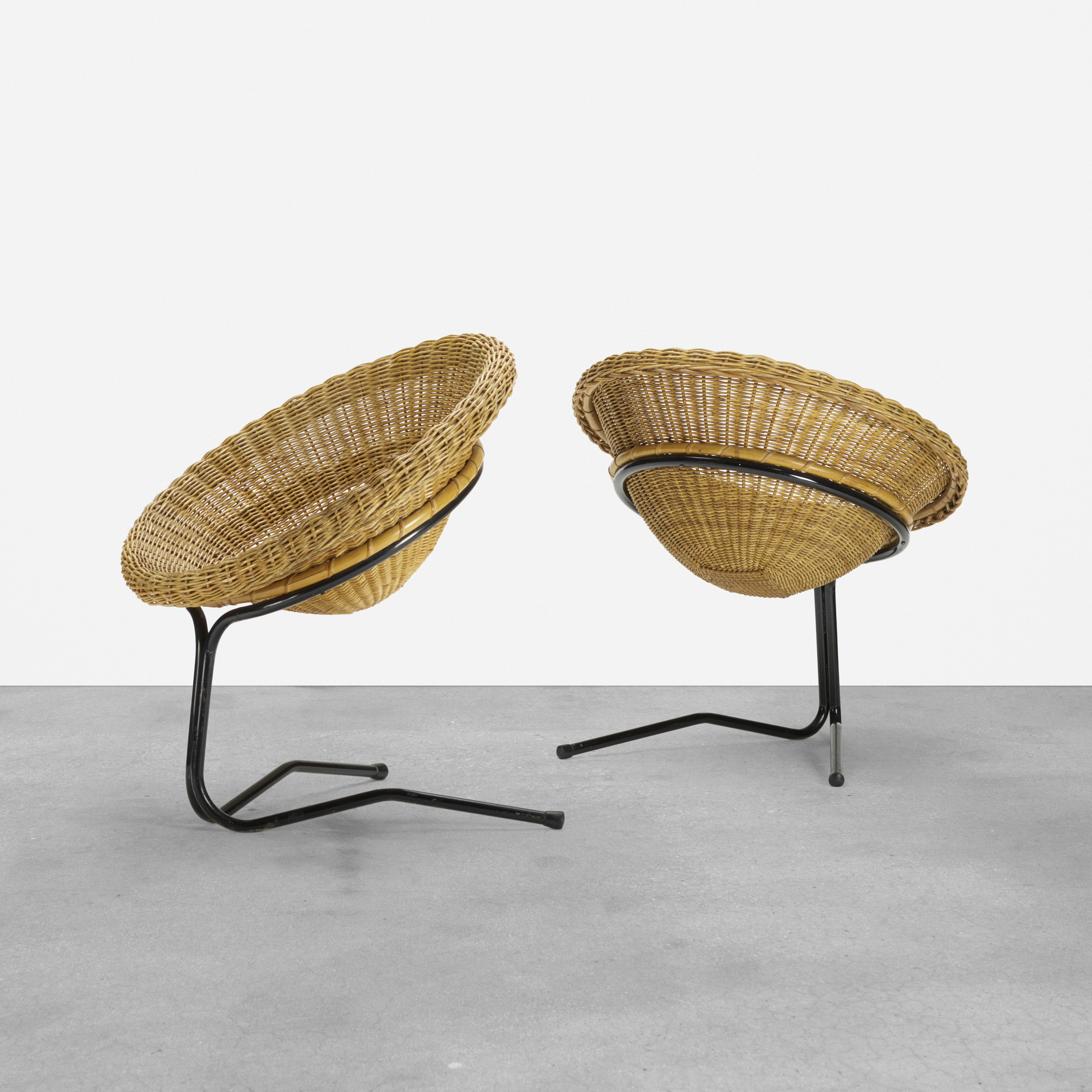 381: Arnold Bueno de Mesquita / pair of cantilever chairs (1 of 4)