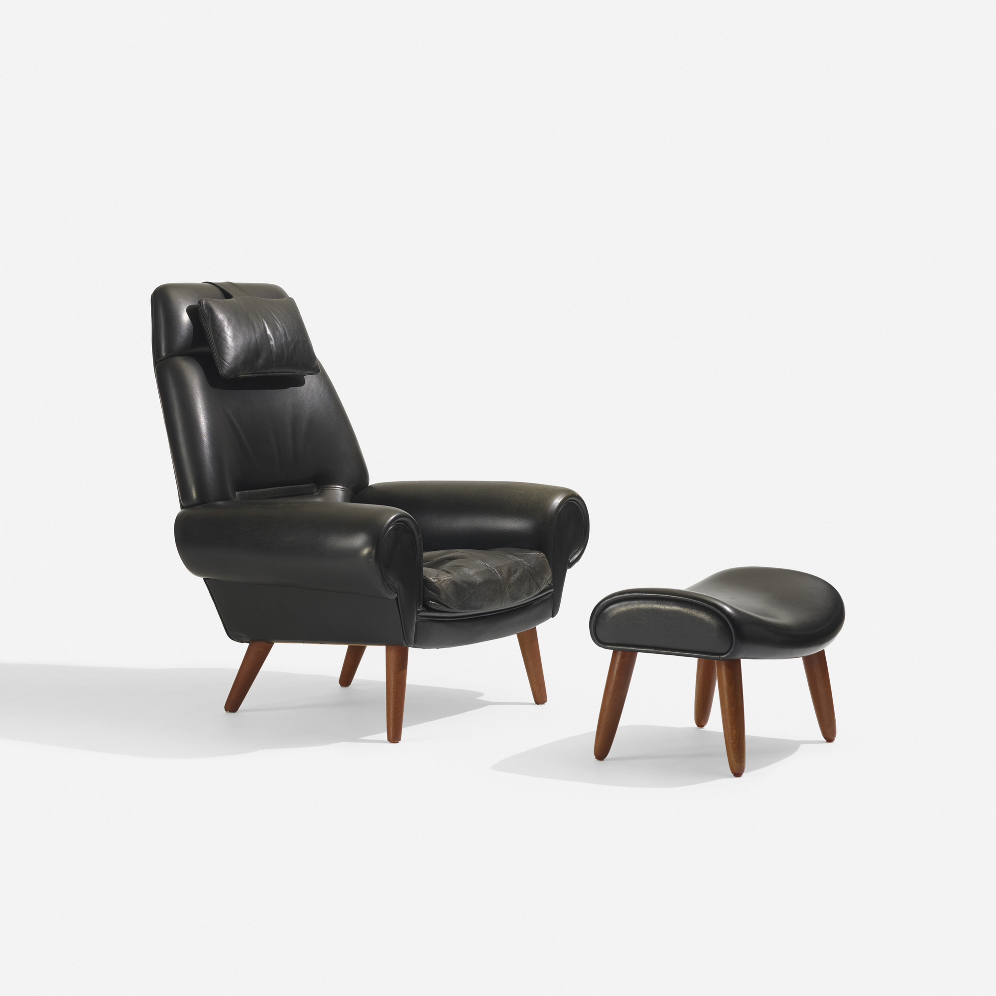 387 Kurt ˜stervig lounge chair and ottoman Scandinavian