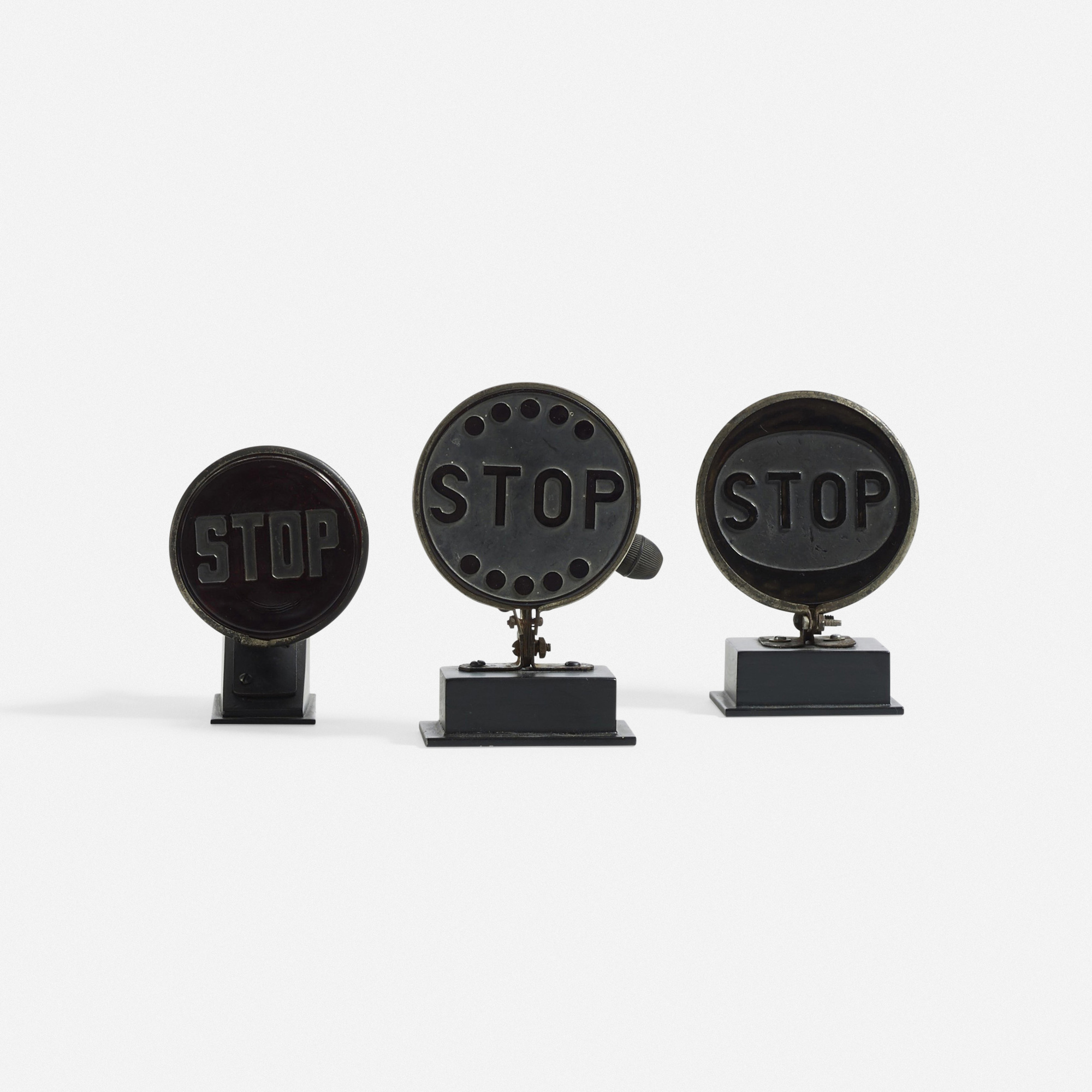 388: American / Stop signals, set of three (1 of 1)