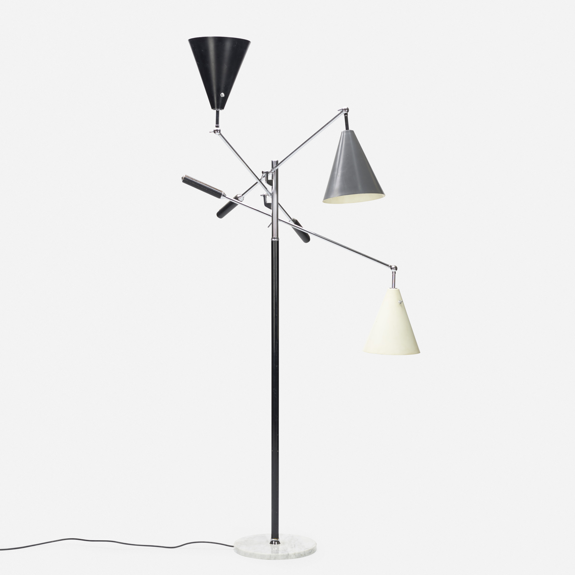 389: Italian / Three Arm floor lamp (1 of 3)